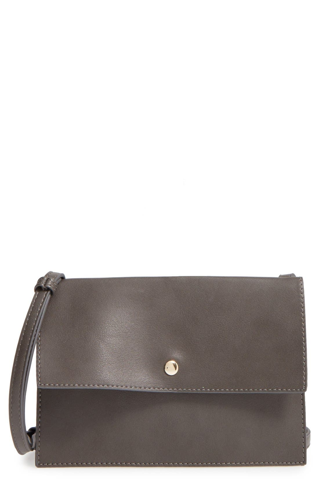 SOLE SOCIETY, 'Vanessa' Faux Leather Crossbody Bag, Main thumbnail 1, color, 020