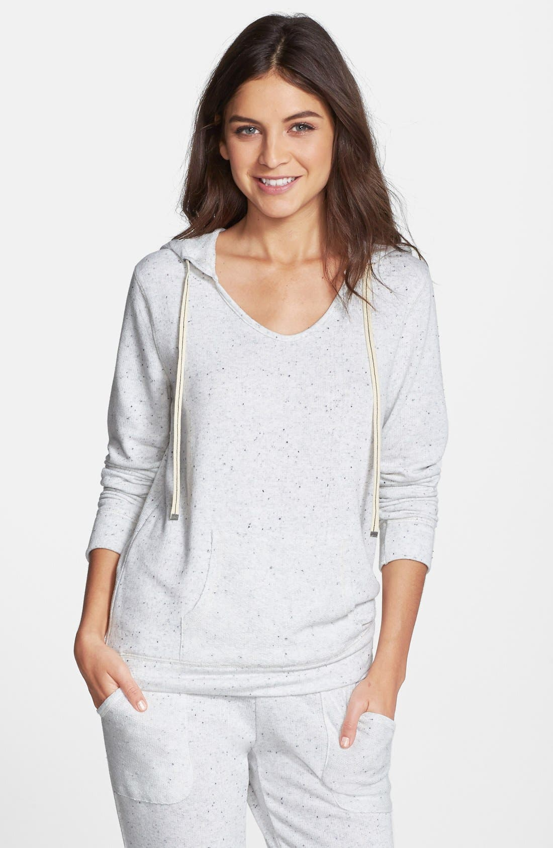 MAKE + MODEL 'Dottie' Pullover Hoodie, Main, color, 100