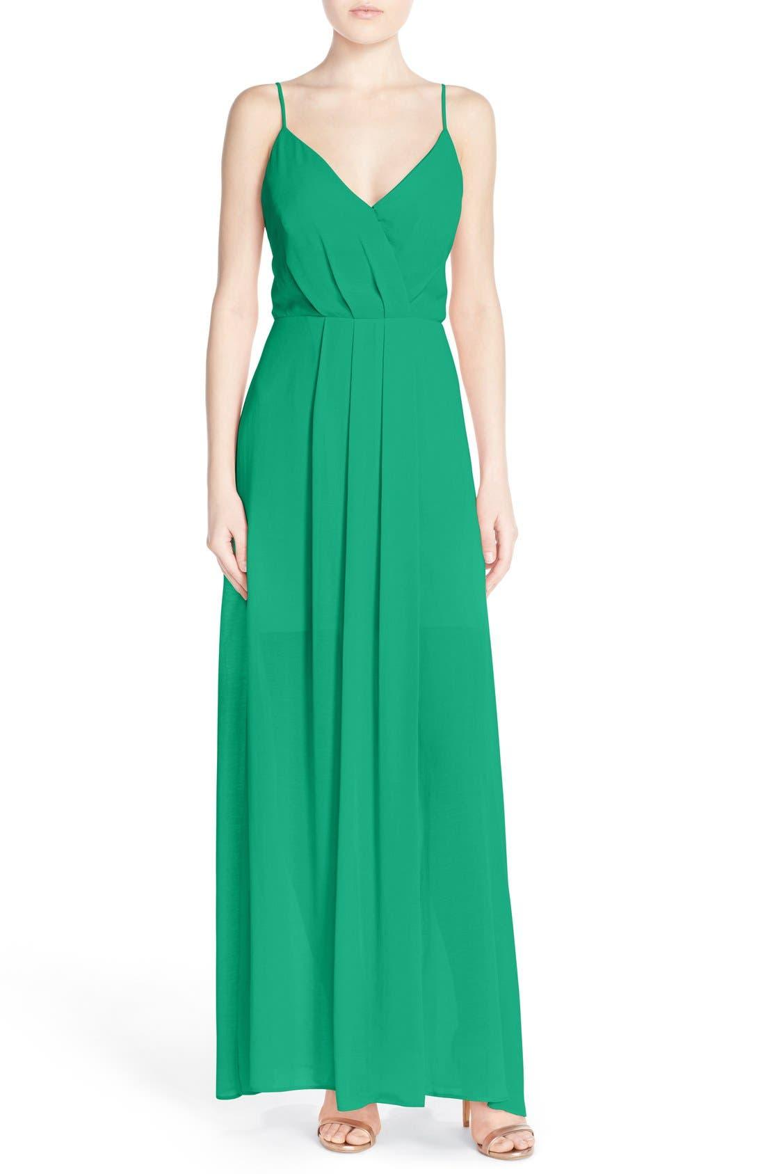 ADELYN RAE, Cutout Back Chiffon Maxi Dress, Main thumbnail 1, color, 340