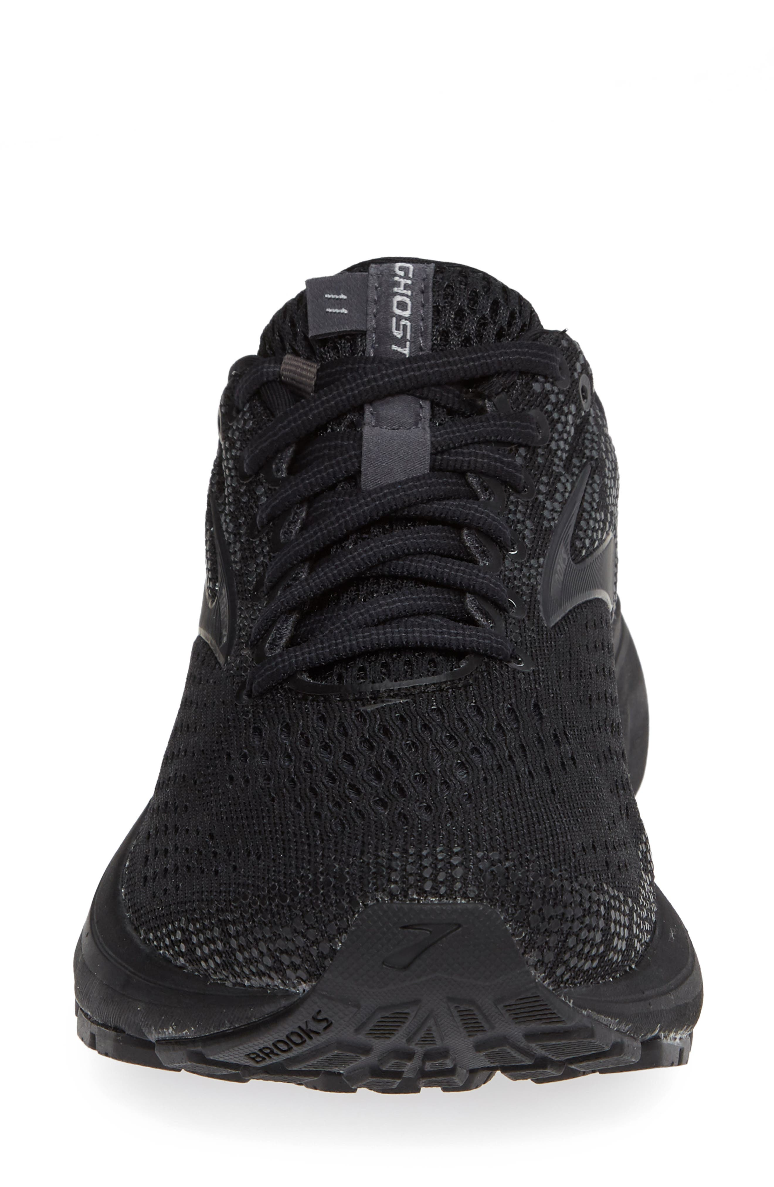 BROOKS, Ghost 11 Running Shoe, Alternate thumbnail 4, color, BLACK/ EBONY