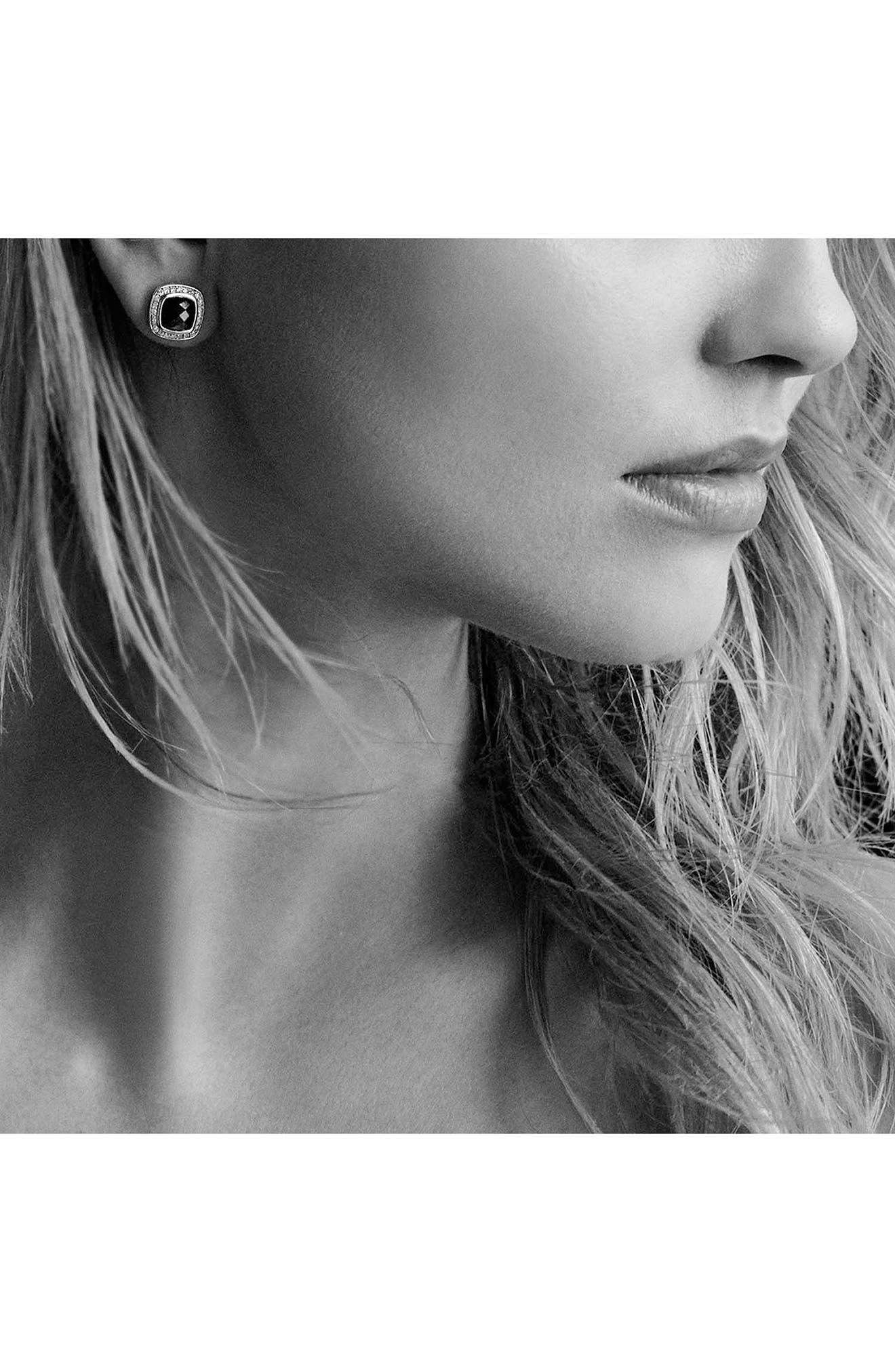 DAVID YURMAN, 'Albion' Earrings with Semiprecious Stone and Diamonds, Alternate thumbnail 2, color, PRASIOLITE