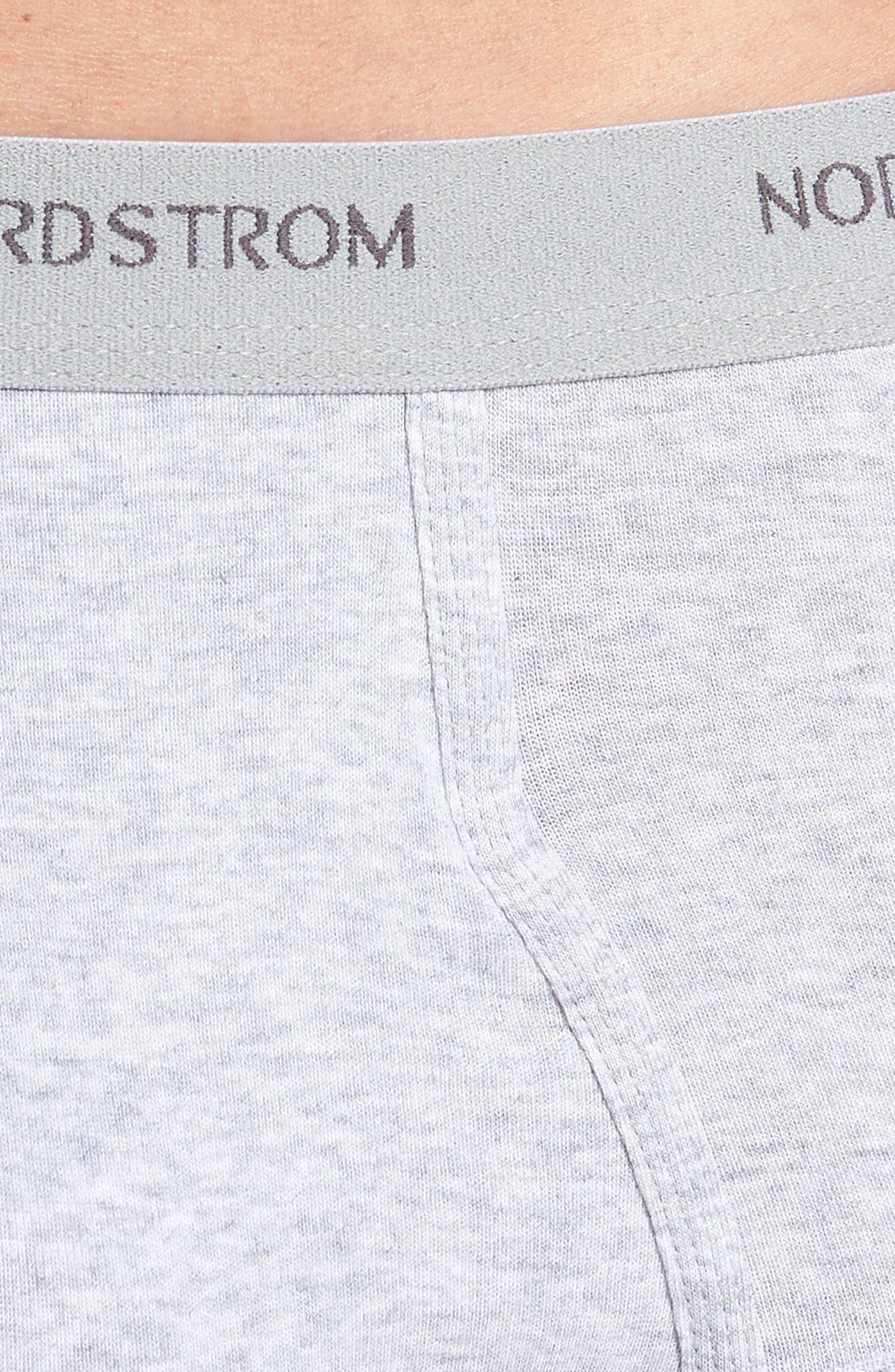 NORDSTROM MEN'S SHOP, 4-Pack Supima<sup>®</sup> Cotton Briefs, Alternate thumbnail 5, color, BLACK/ NAVY/ GREY