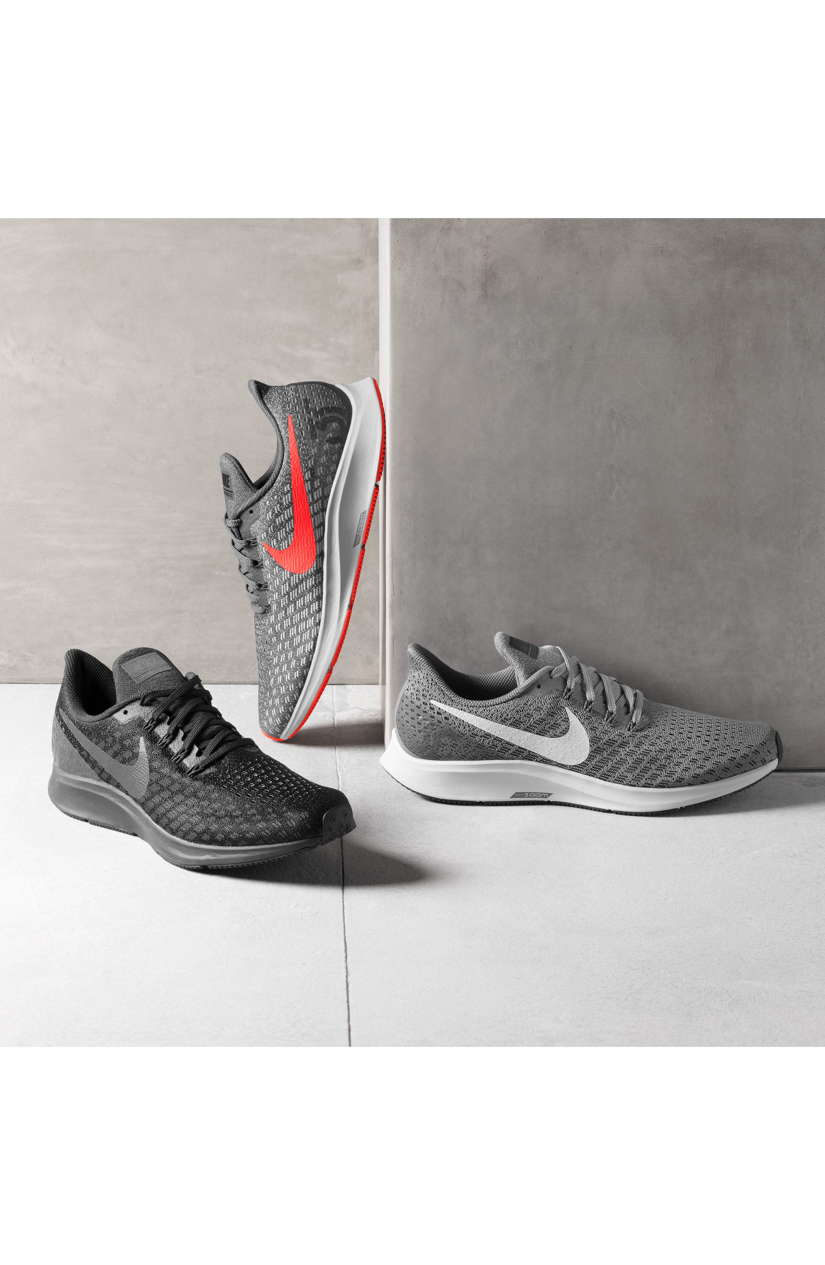 NIKE, Air Zoom Pegasus 35 Running Shoe, Alternate thumbnail 7, color, BLACK/ WHITE/ BLACK