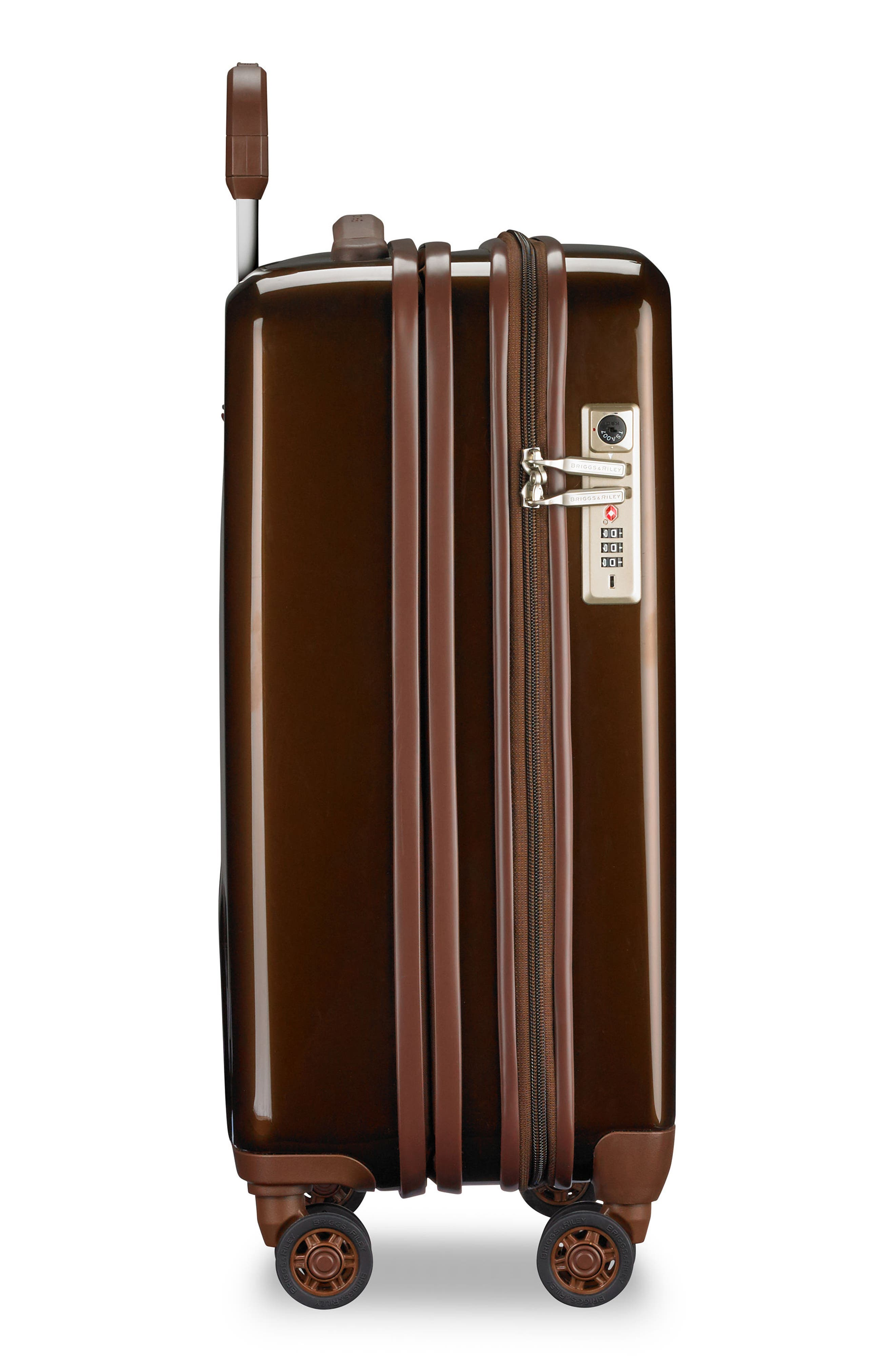 BRIGGS & RILEY, Sympatico 21-Inch Expandable Wheeled Carry-On, Alternate thumbnail 3, color, BRONZE
