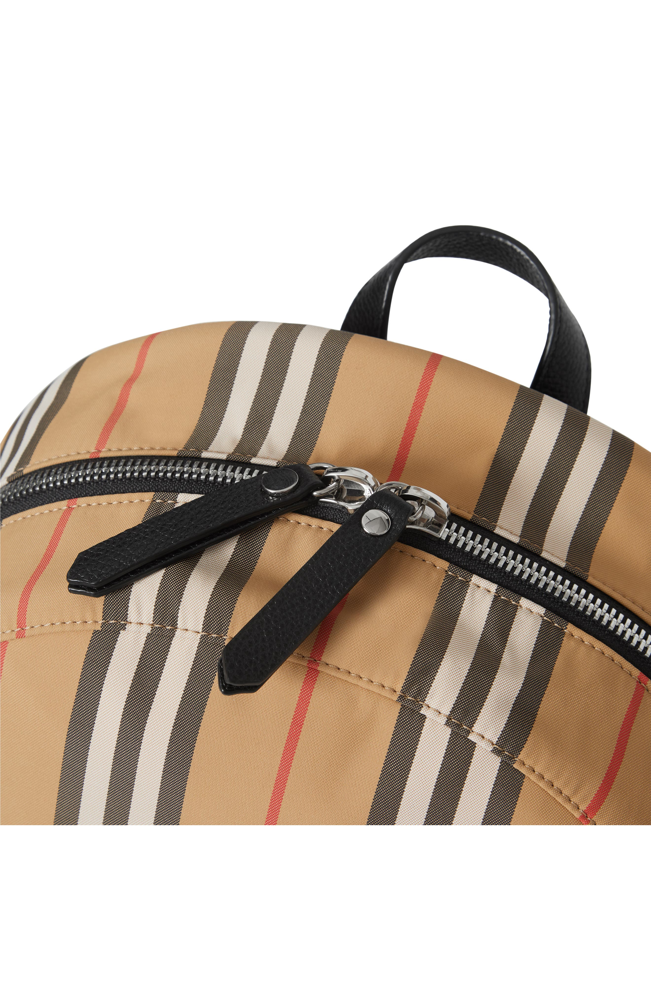BURBERRY, Nico Archive Stripe Backpack, Alternate thumbnail 5, color, ARCHIVE BEIGE