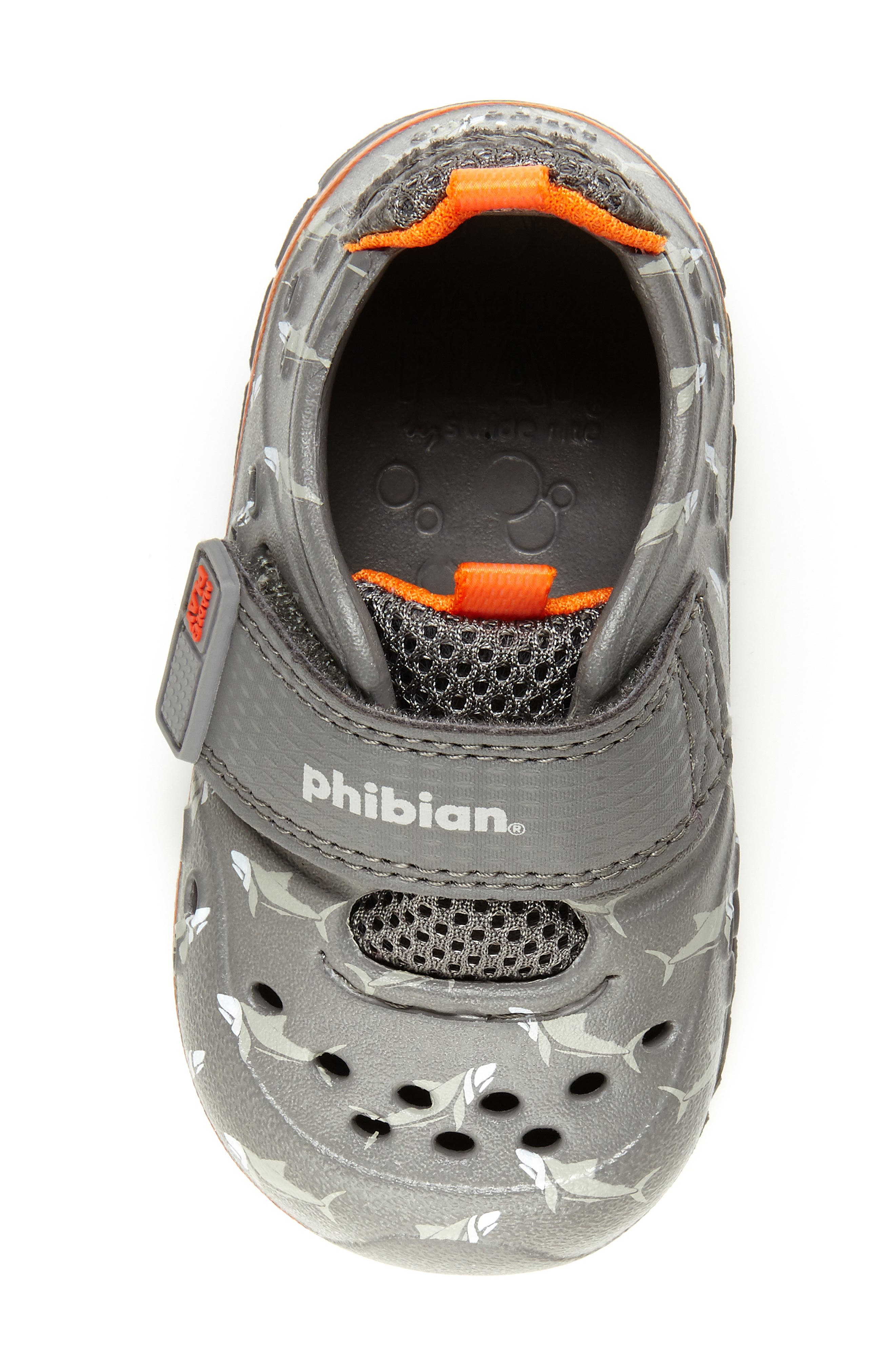 STRIDE RITE, Made2Play<sup>®</sup> Phibian Sneaker, Alternate thumbnail 4, color, GREY SHARK EVA