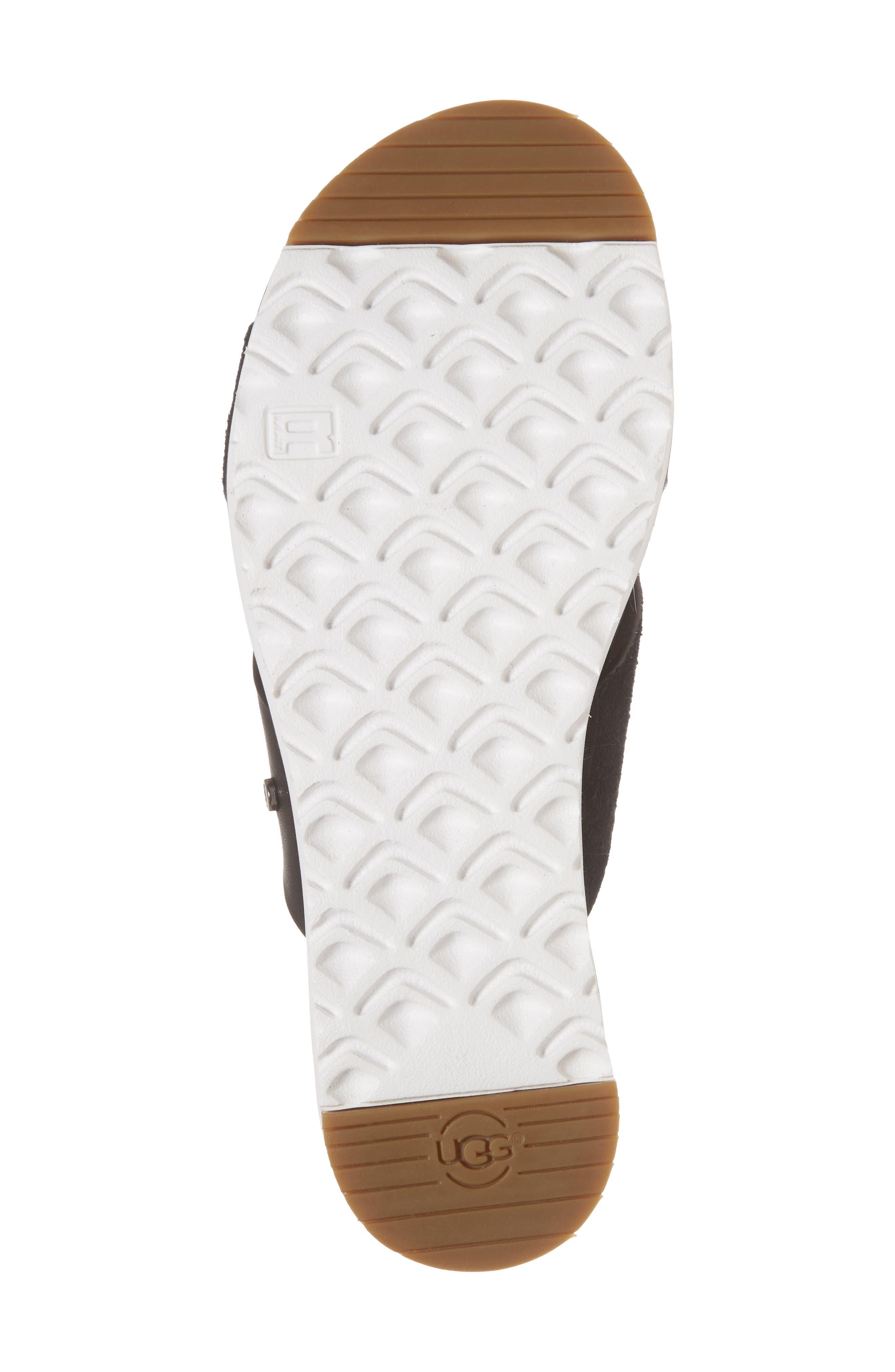 UGG<SUP>®</SUP>, 'Kari' Sandal, Alternate thumbnail 6, color, BLACK