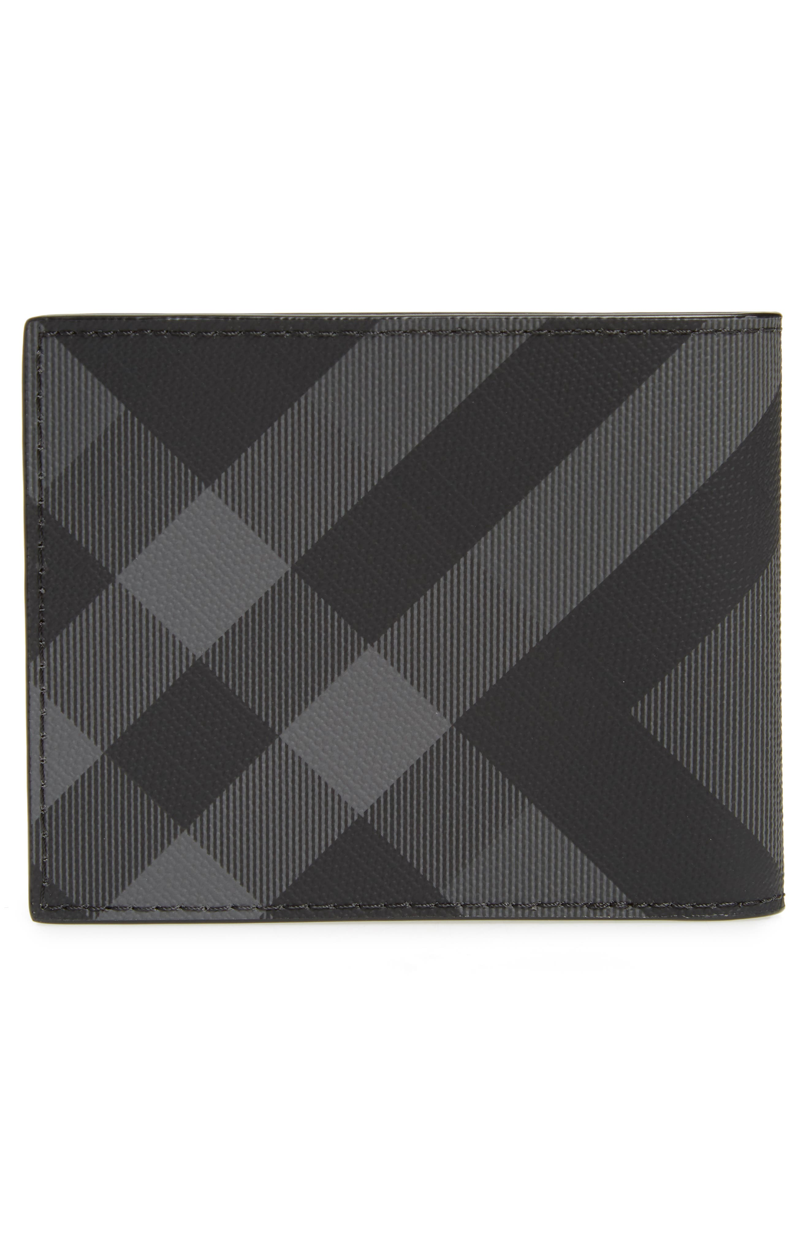 BURBERRY, Check Wallet, Alternate thumbnail 3, color, 020