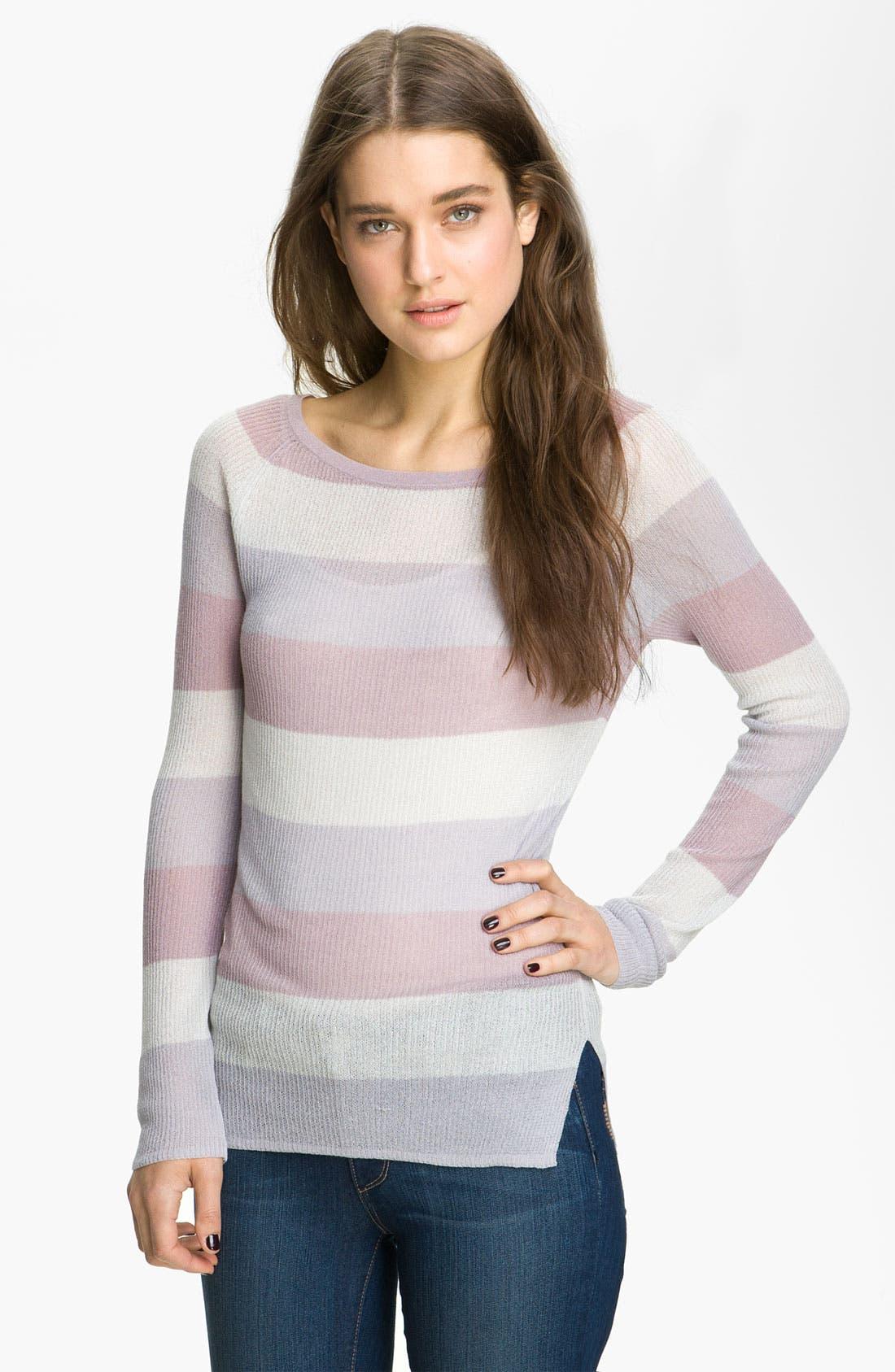 HINGE,  Stripe Knit Sweater, Main thumbnail 1, color, 060