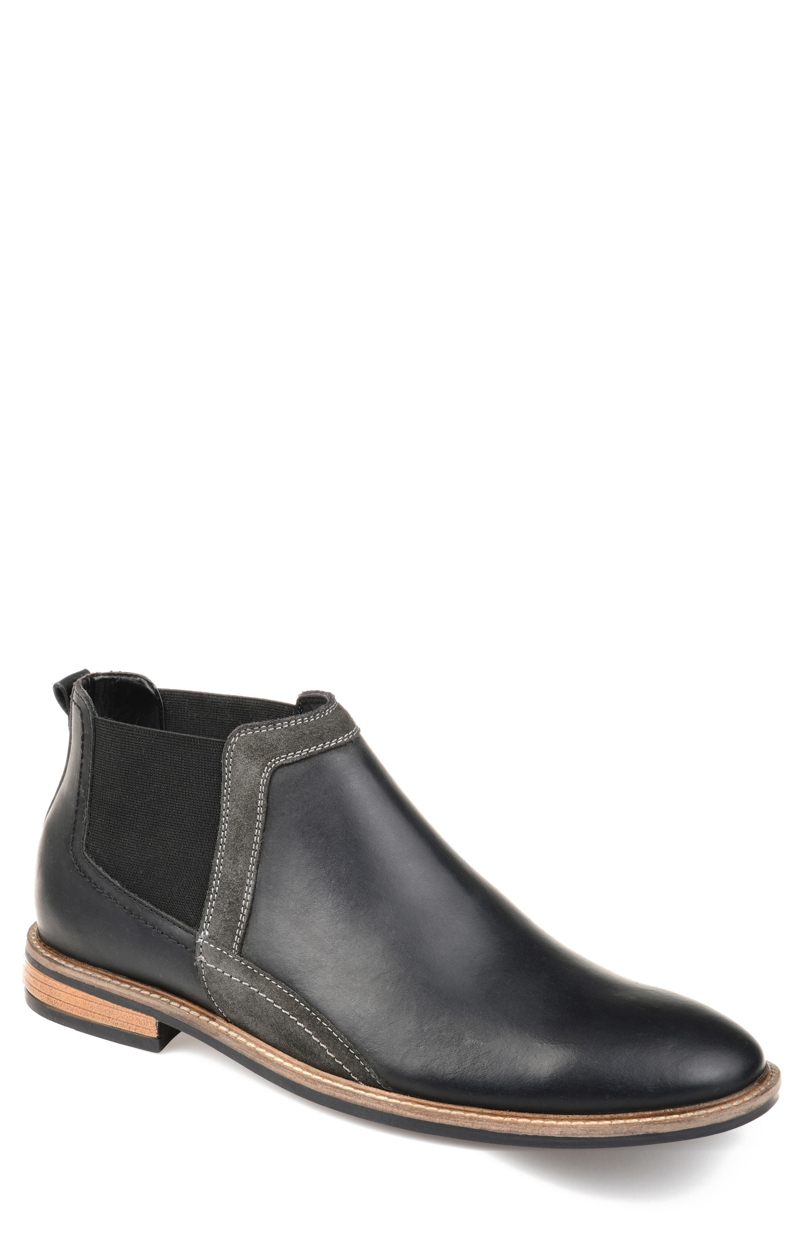 THOMAS AND VINE Beckham Chelsea Boot, Main, color, BLACK LEATHER