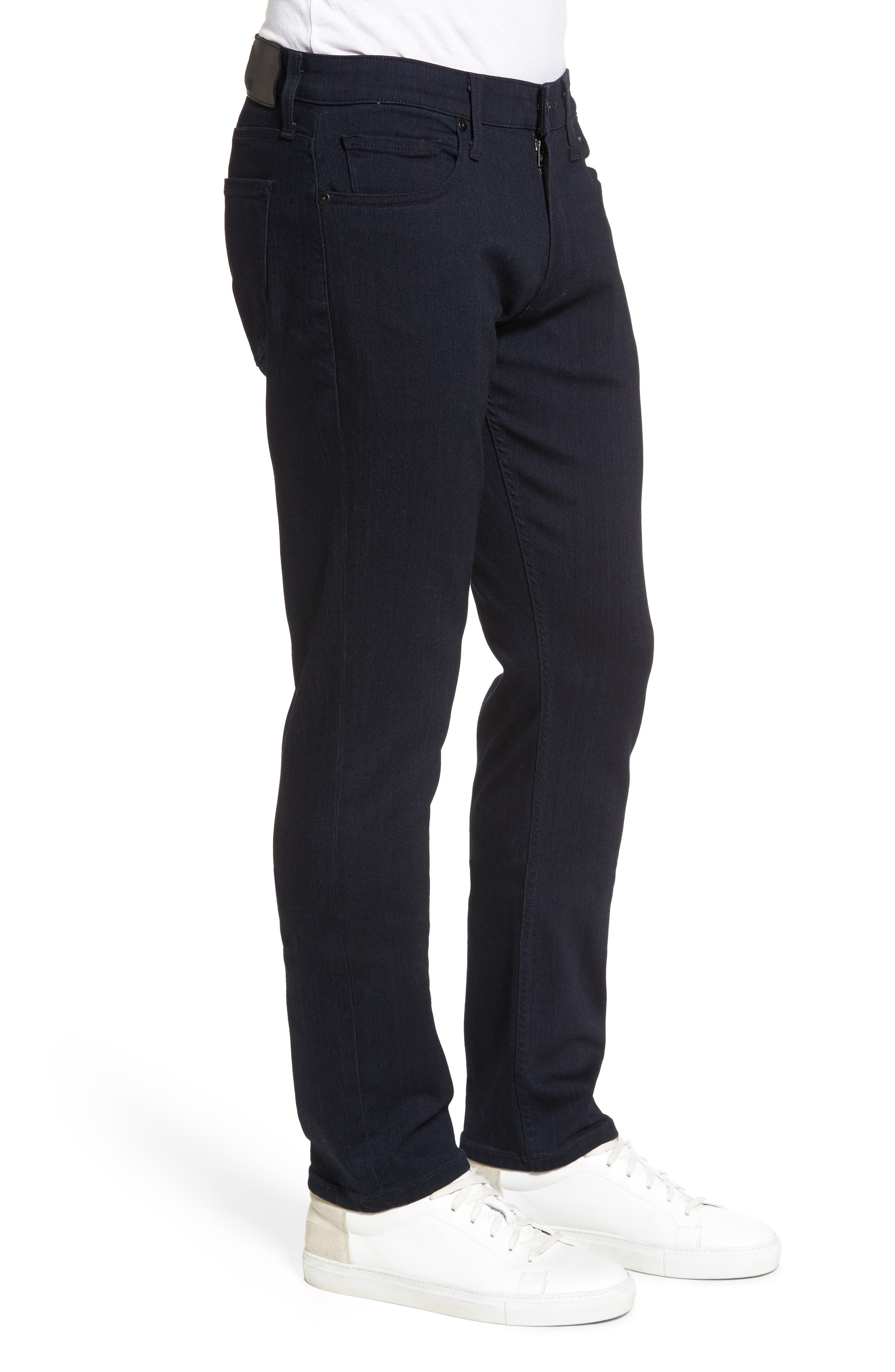 PAIGE, Transcend - Federal Slim Straight Leg Jeans, Alternate thumbnail 4, color, INKWELL