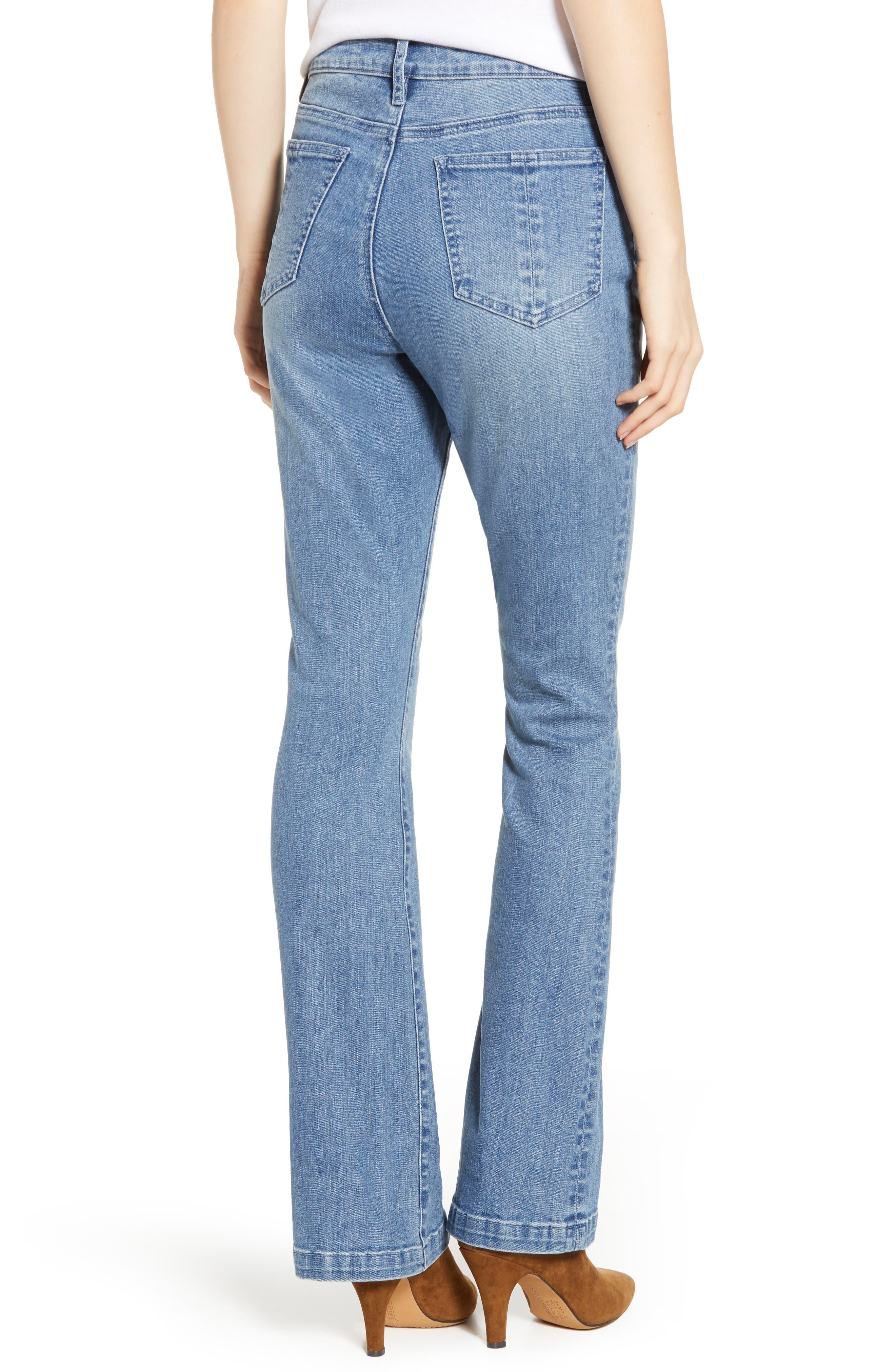 PROSPERITY DENIM, Pintuck Flare Jeans, Alternate thumbnail 2, color, KARLA WASH