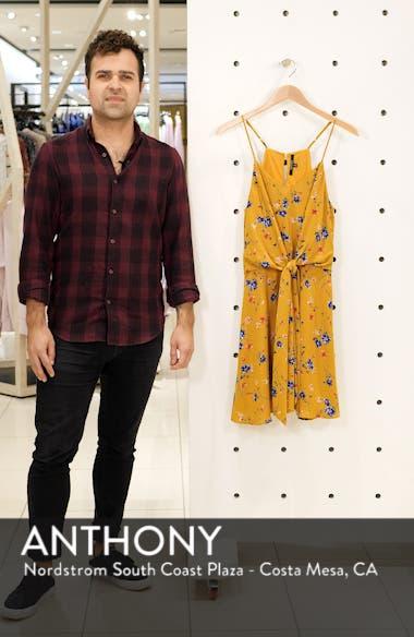 Floral Print Tie Front Dress, sales video thumbnail