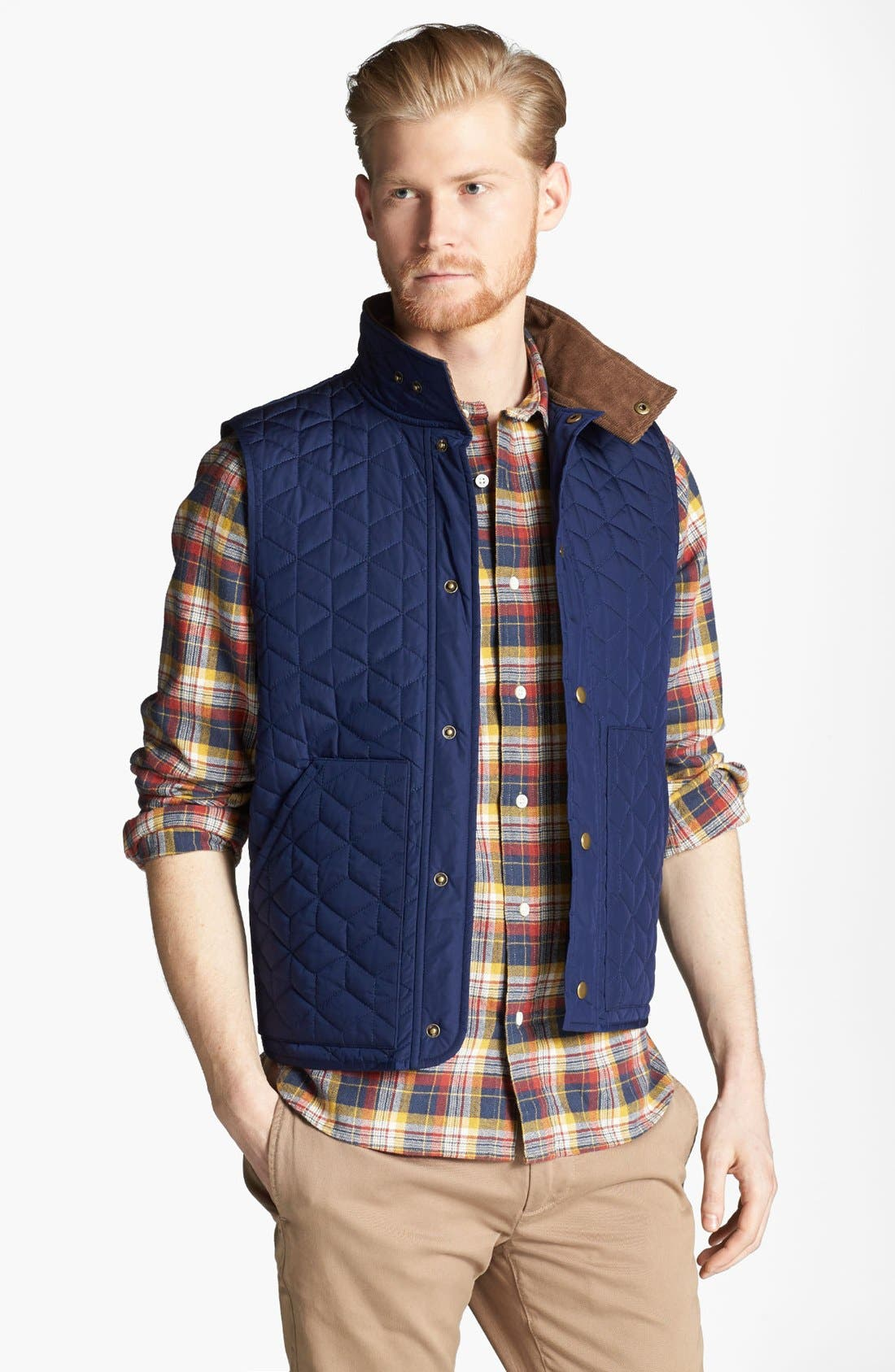 JACK SPADE, 'Herington' Quilted Vest, Main thumbnail 1, color, 400