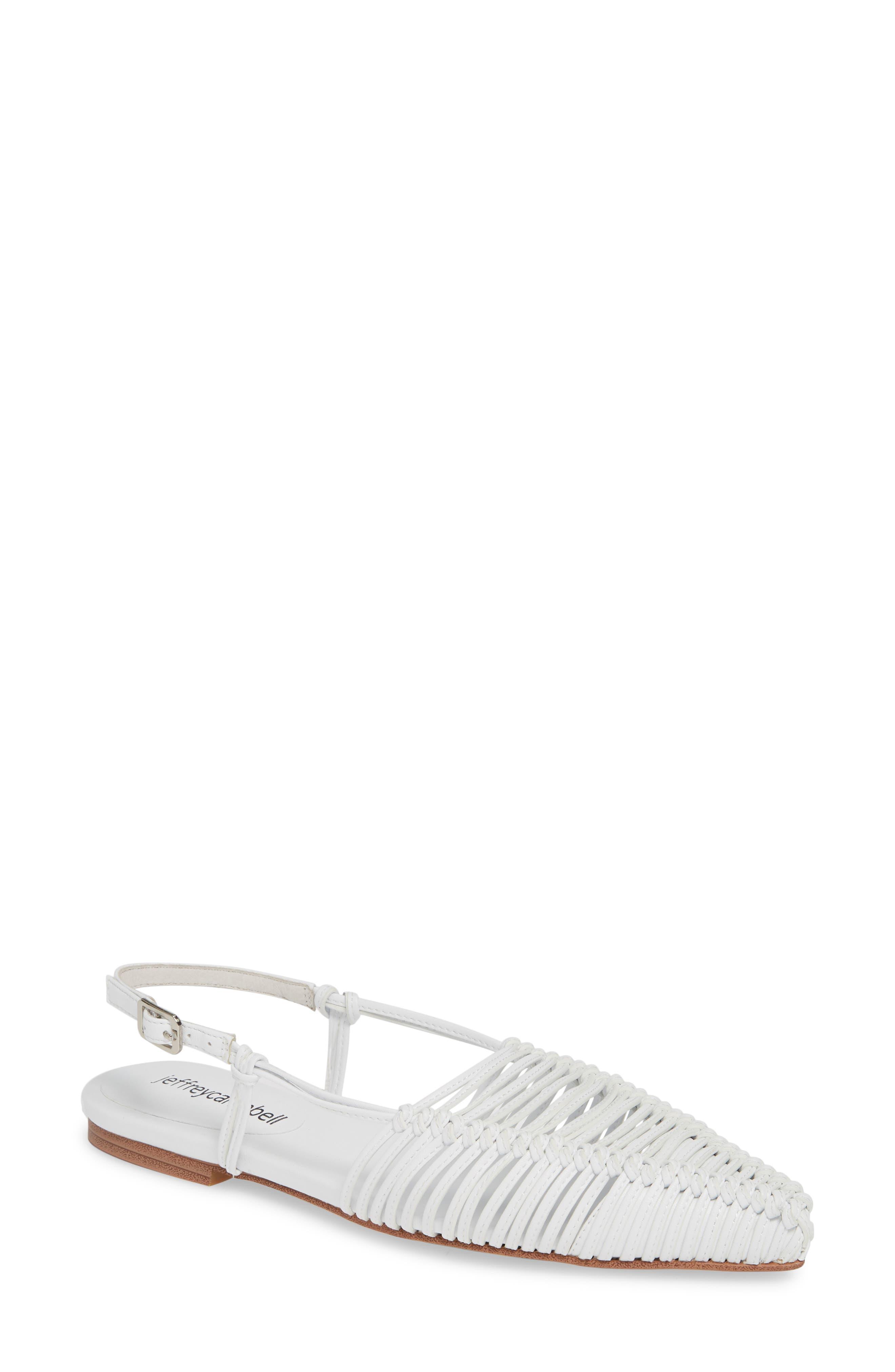 JEFFREY CAMPBELL Myron Flat, Main, color, WHITE LEATHER