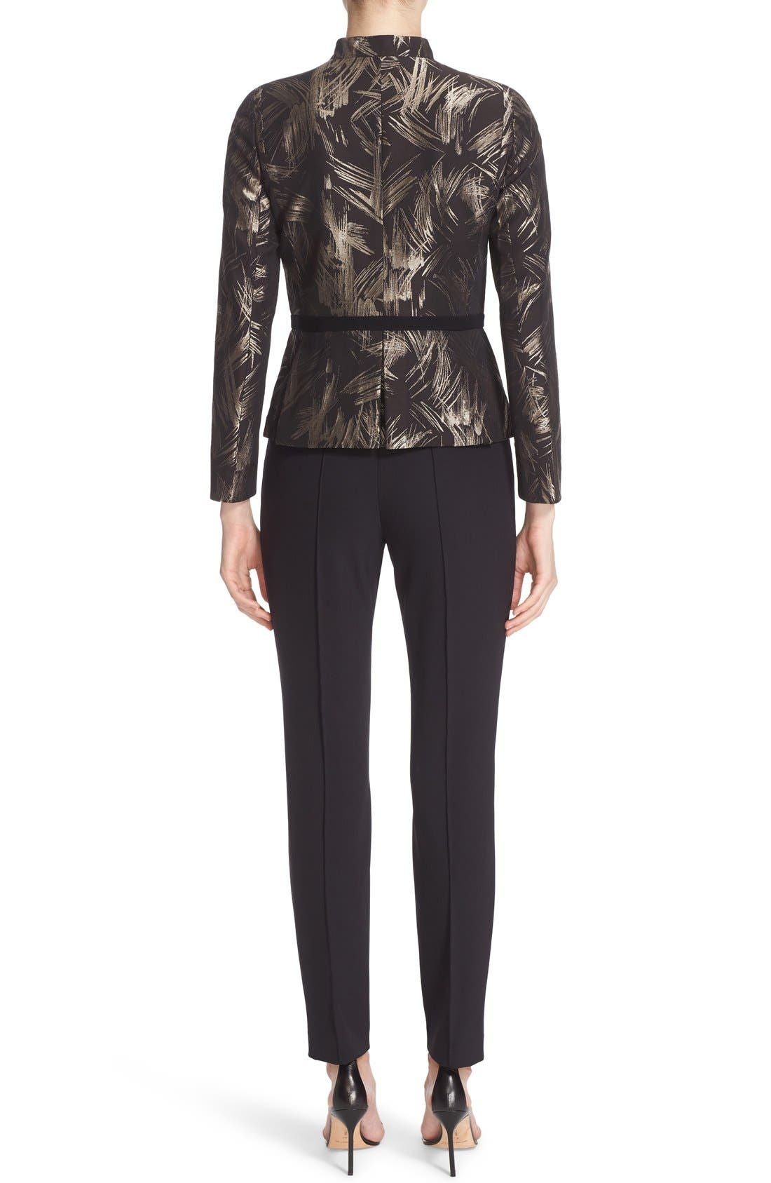 LAFAYETTE 148 NEW YORK, 'Gramercy' Acclaimed Stretch Pants, Alternate thumbnail 9, color, BLACK