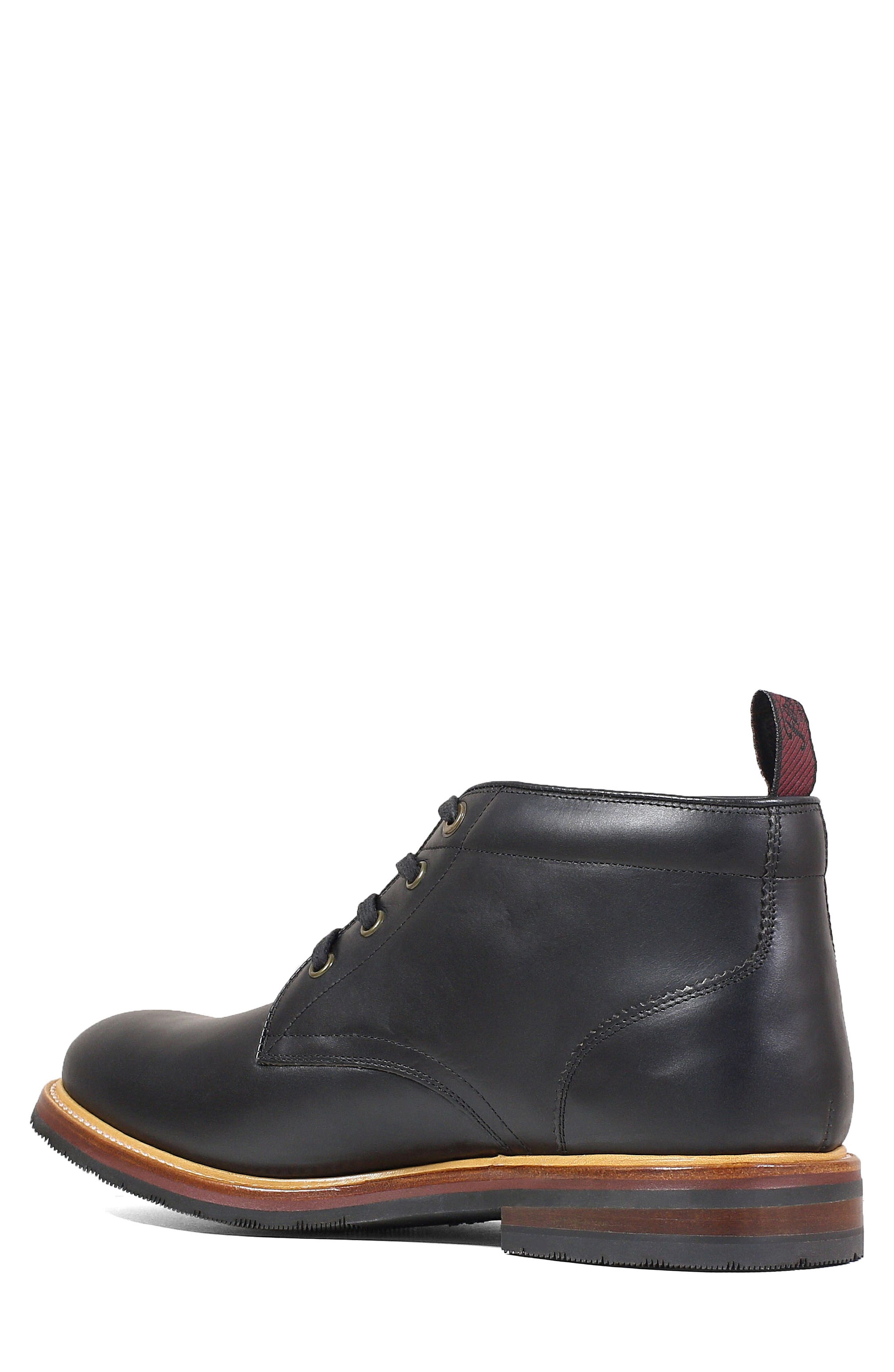 FLORSHEIM, Foundry Leather Boot, Alternate thumbnail 2, color, BLACK LEATHER