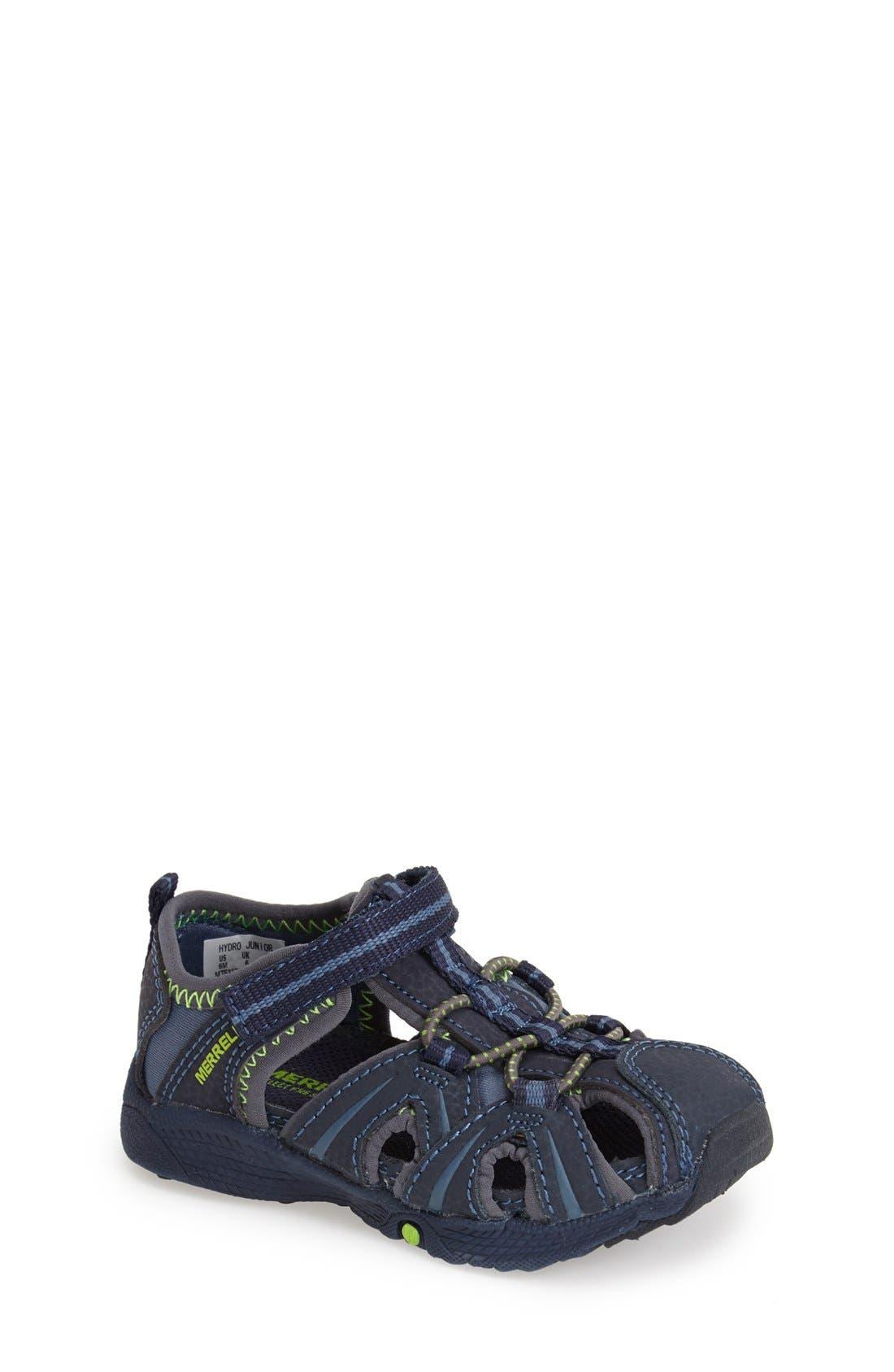 MERRELL 'Hydro Junior' M-Select Water Sandal, Main, color, NAVY/ GREEN