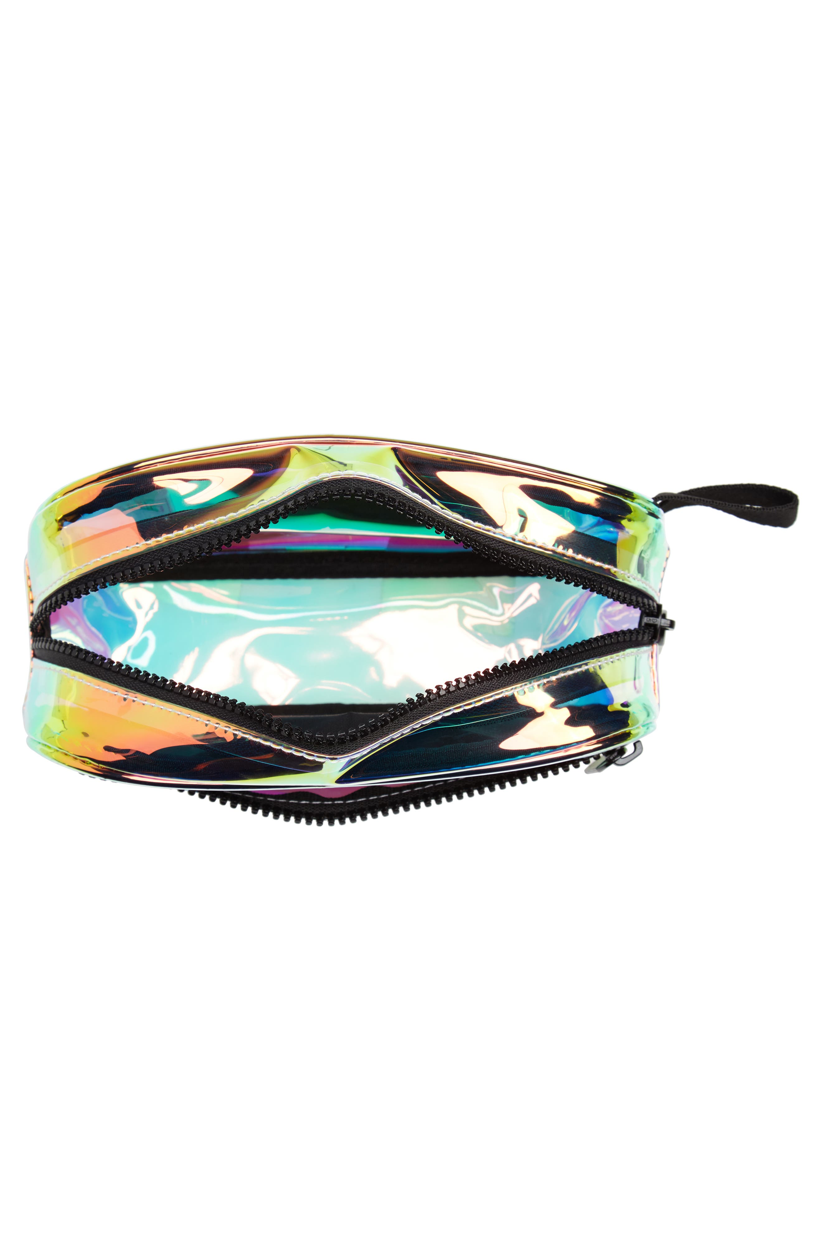 ADIDAS, Ori Holographic Clear Belt Bag, Alternate thumbnail 5, color, 100