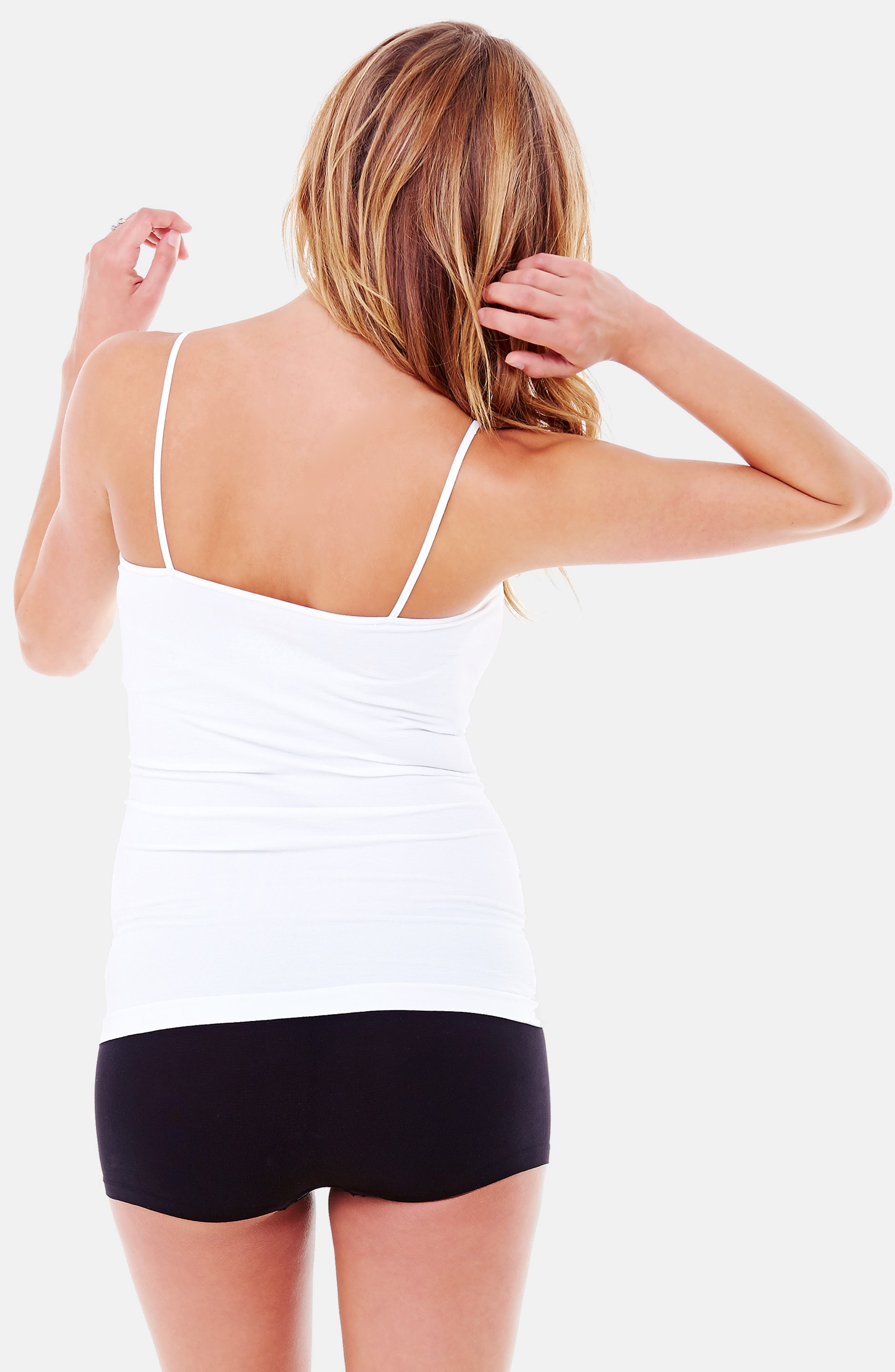 INGRID & ISABEL<SUP>®</SUP>, 'Everyday' Seamless Maternity Camisole, Alternate thumbnail 5, color, WHITE