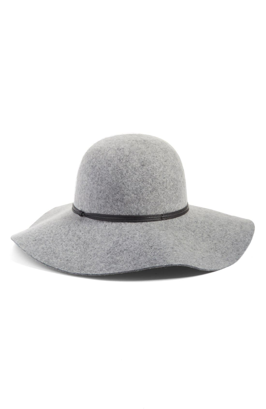 HINGE, Floppy Wool Hat, Main thumbnail 1, color, GREY LIGHT HEATHER