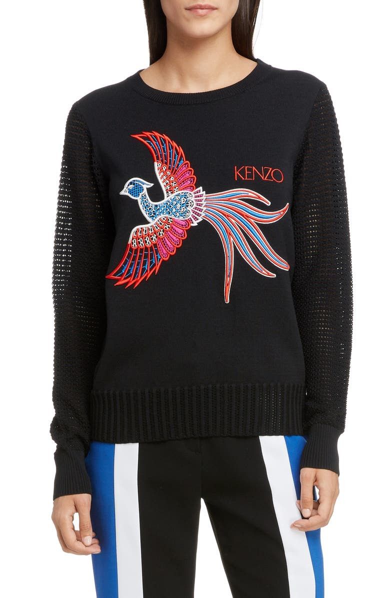 Kenzo Cottons PHOENIX EMBROIDERED SWEATER