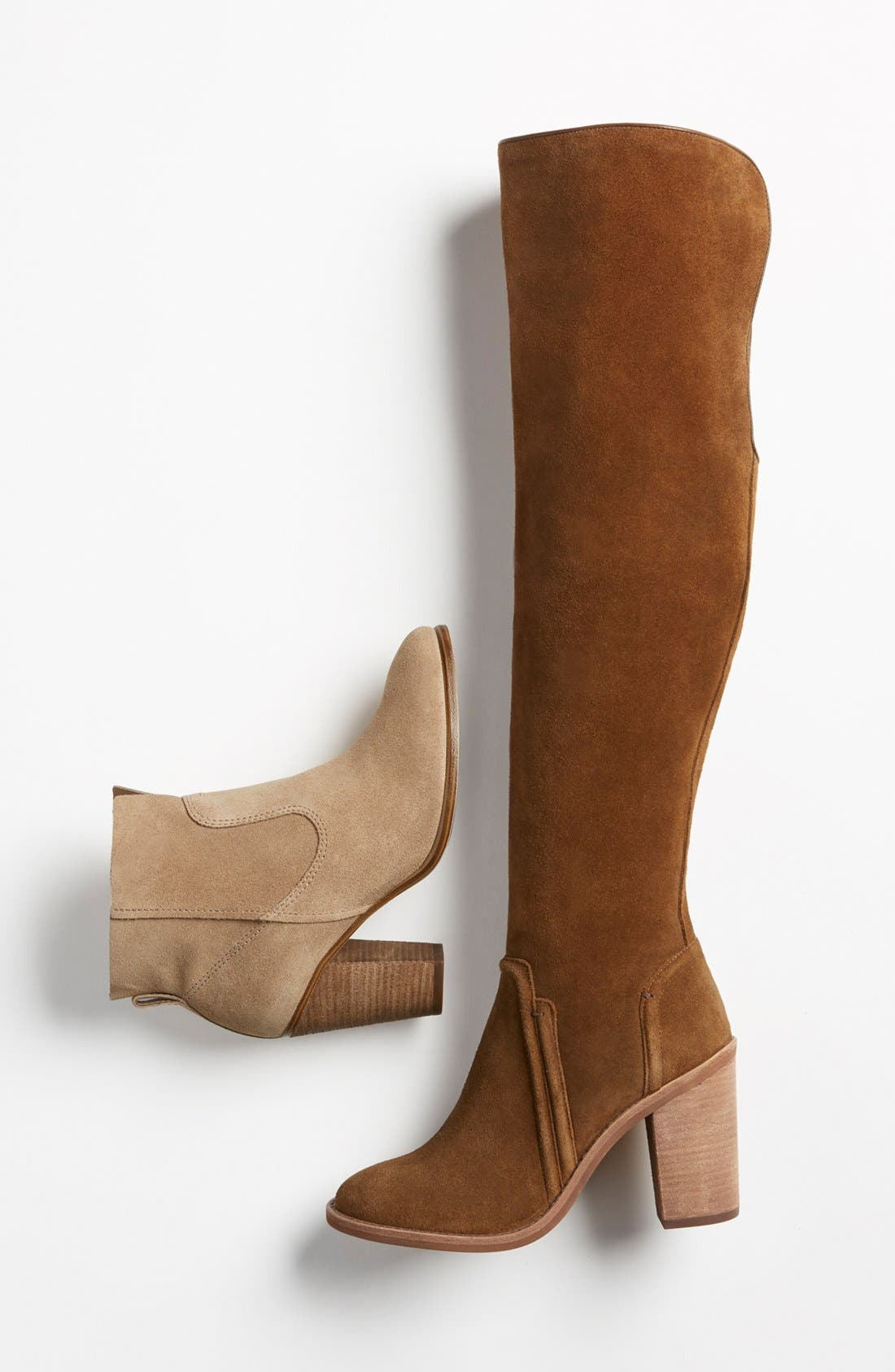 VINCE CAMUTO, 'Melaya' Over the Knee Boot, Alternate thumbnail 5, color, 001