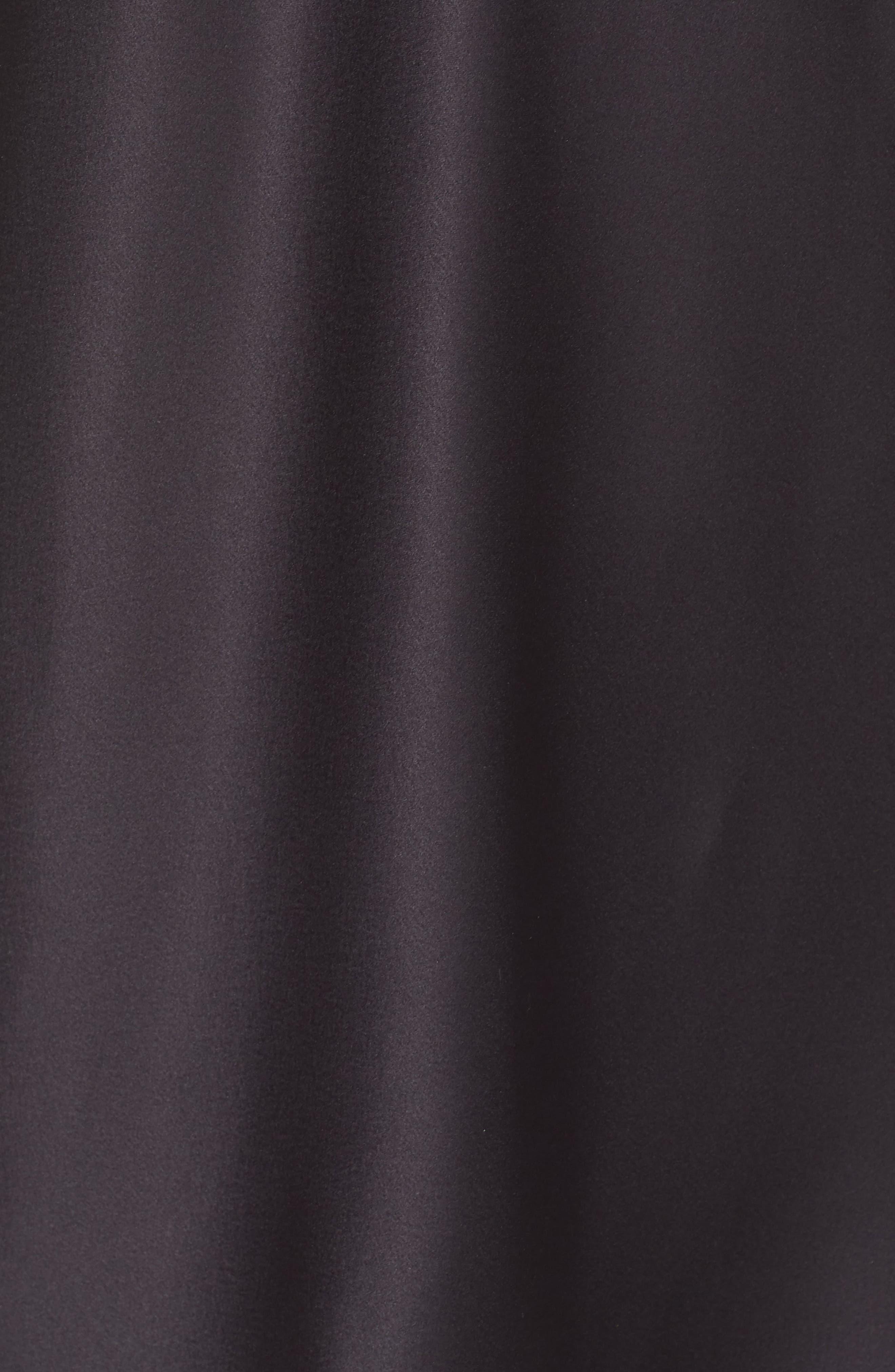 LAUREN RALPH LAUREN, Lace Trim Chemise, Alternate thumbnail 5, color, BLACK