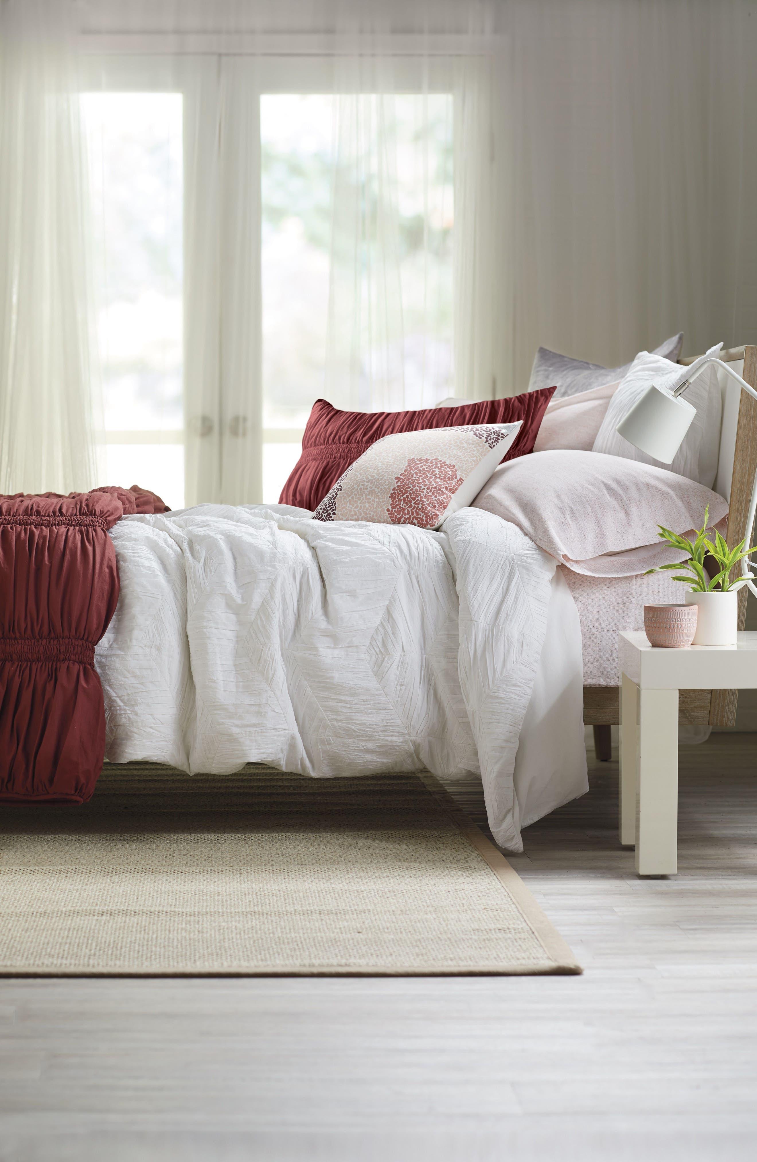 NORDSTROM AT HOME Selene Duvet Cover, Main, color, WHITE