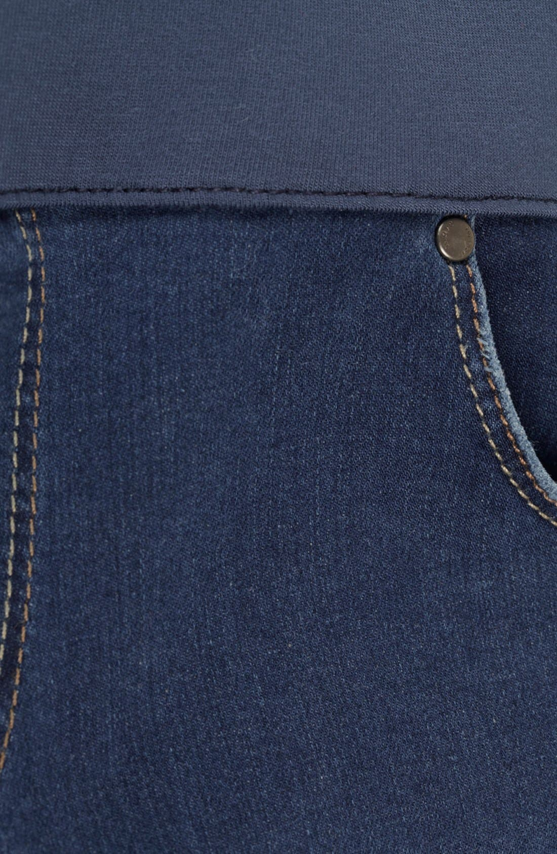TOPSHOP, 'Leigh' Maternity Jeans, Alternate thumbnail 3, color, 420
