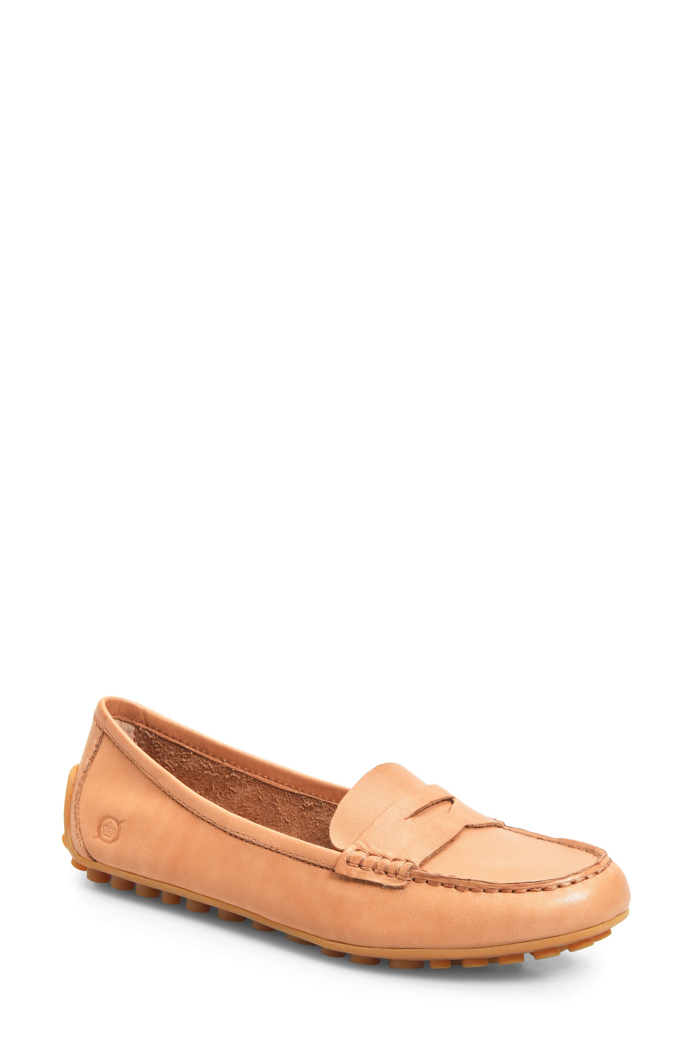 BØRN Malena Driving Loafer, Main, color, TAN BROWN LEATHER