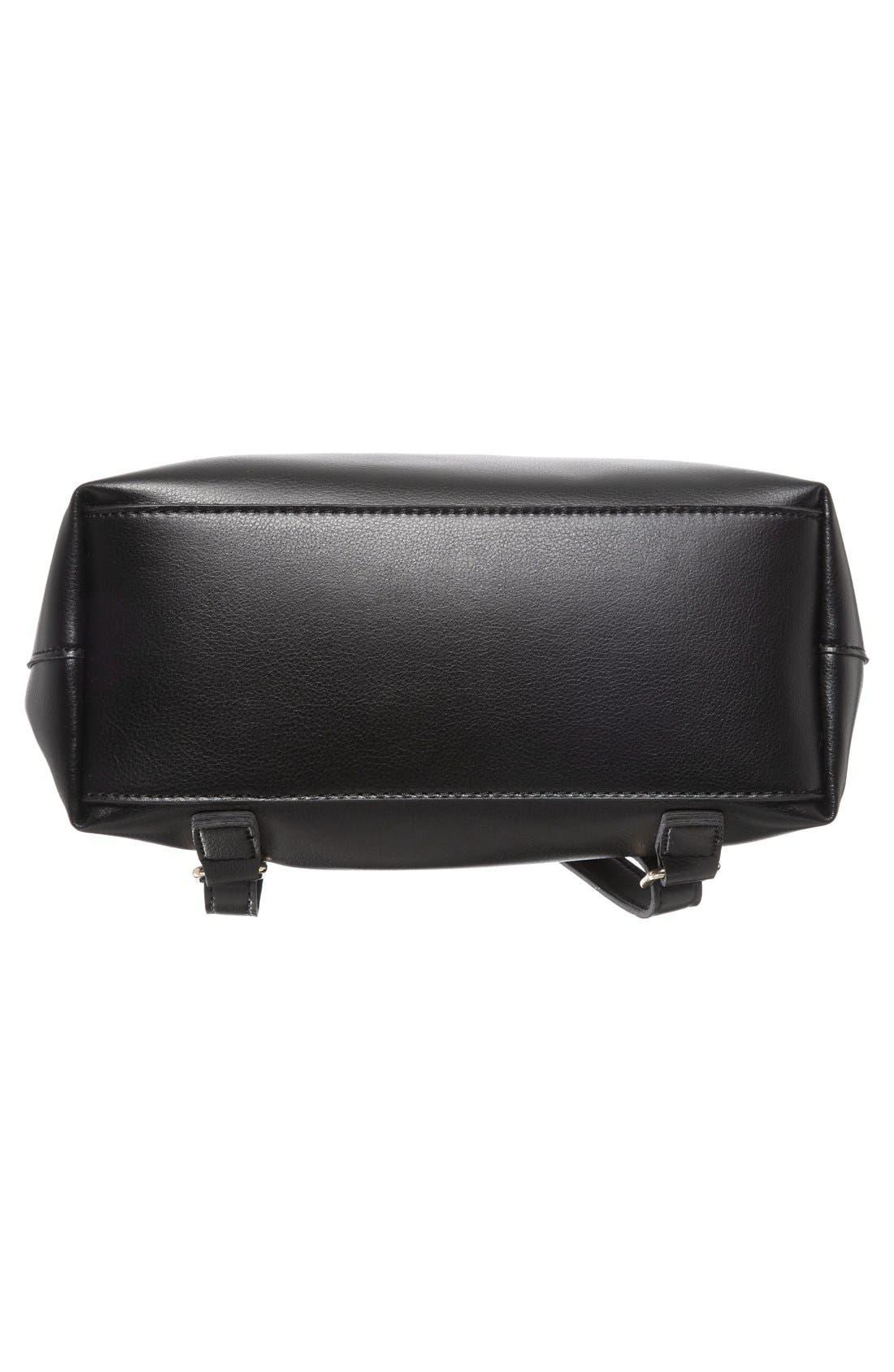 BP., 'Minimal Flap' Faux Leather Backpack, Alternate thumbnail 3, color, 001