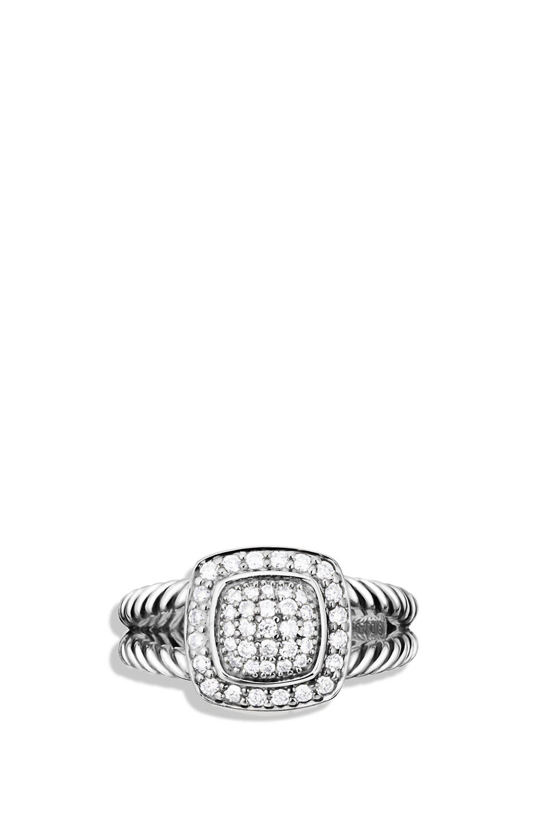 DAVID YURMAN, 'Albion' Petite Ring with Diamonds, Alternate thumbnail 3, color, DIAMOND