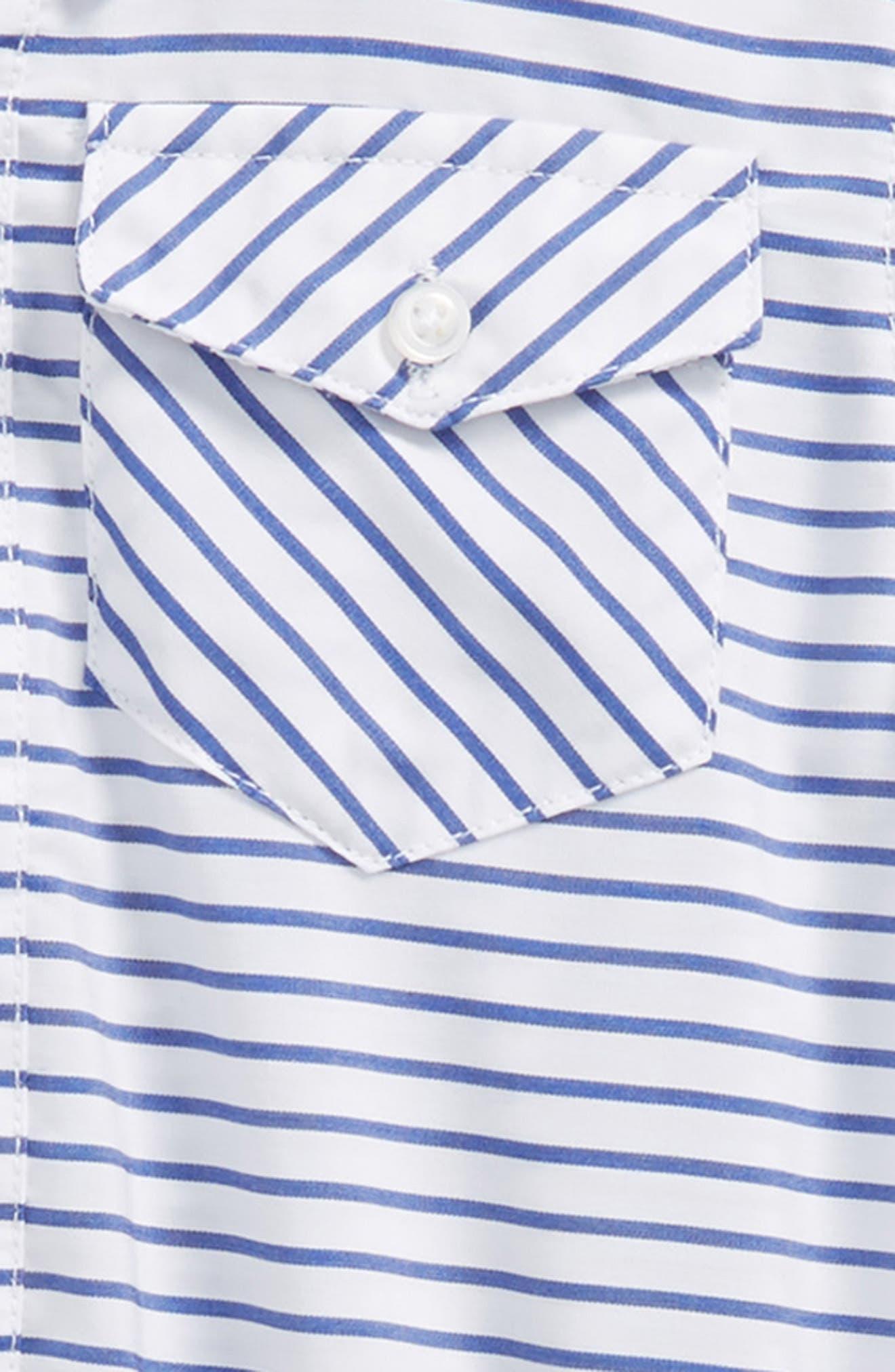 ANDY & EVAN, Shirtzie, Bow Tie & Shorts Set, Alternate thumbnail 2, color, BLUE