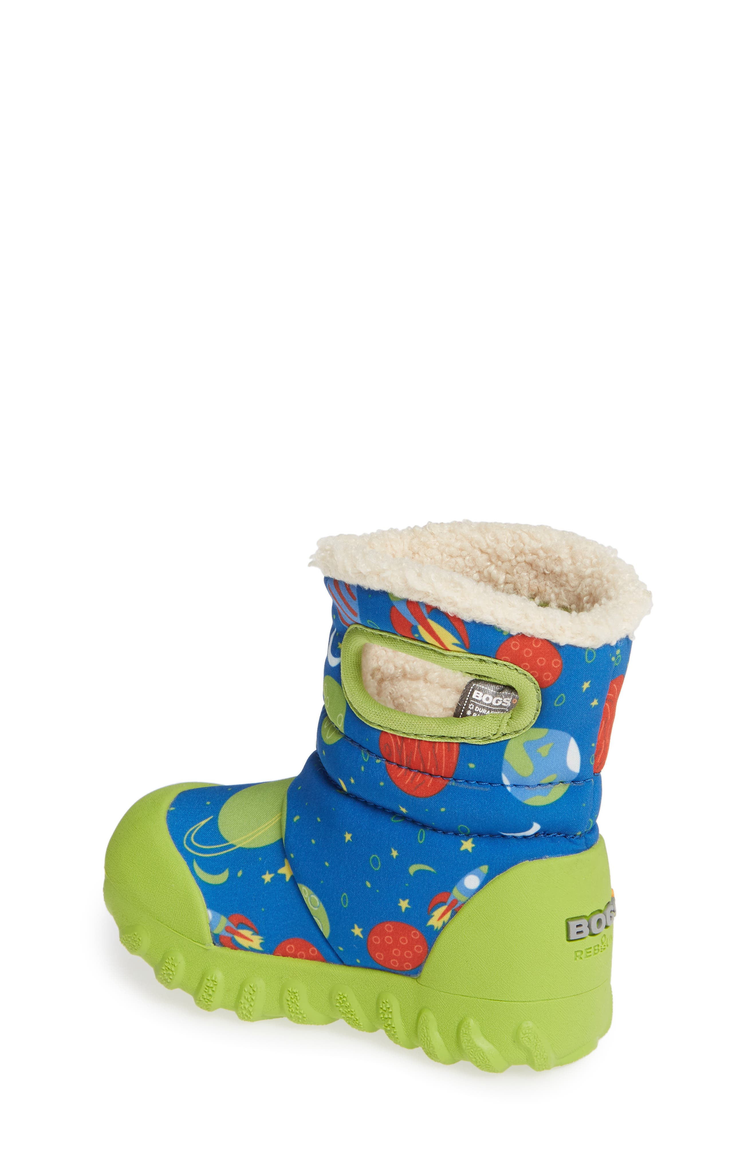 BOGS, B-MOC Space Waterproof Insulated Faux Fur Boot, Alternate thumbnail 2, color, BLUE MULTI