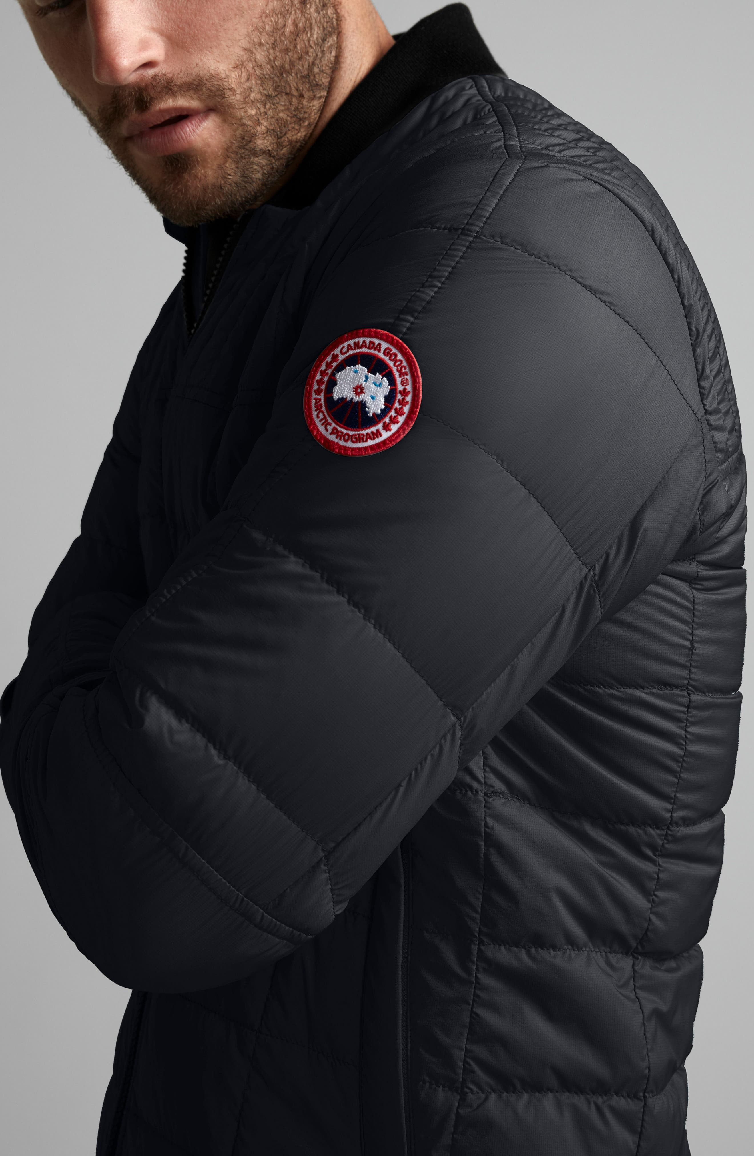 CANADA GOOSE, Dunham Slim Fit Packable Down Jacket, Alternate thumbnail 3, color, 001