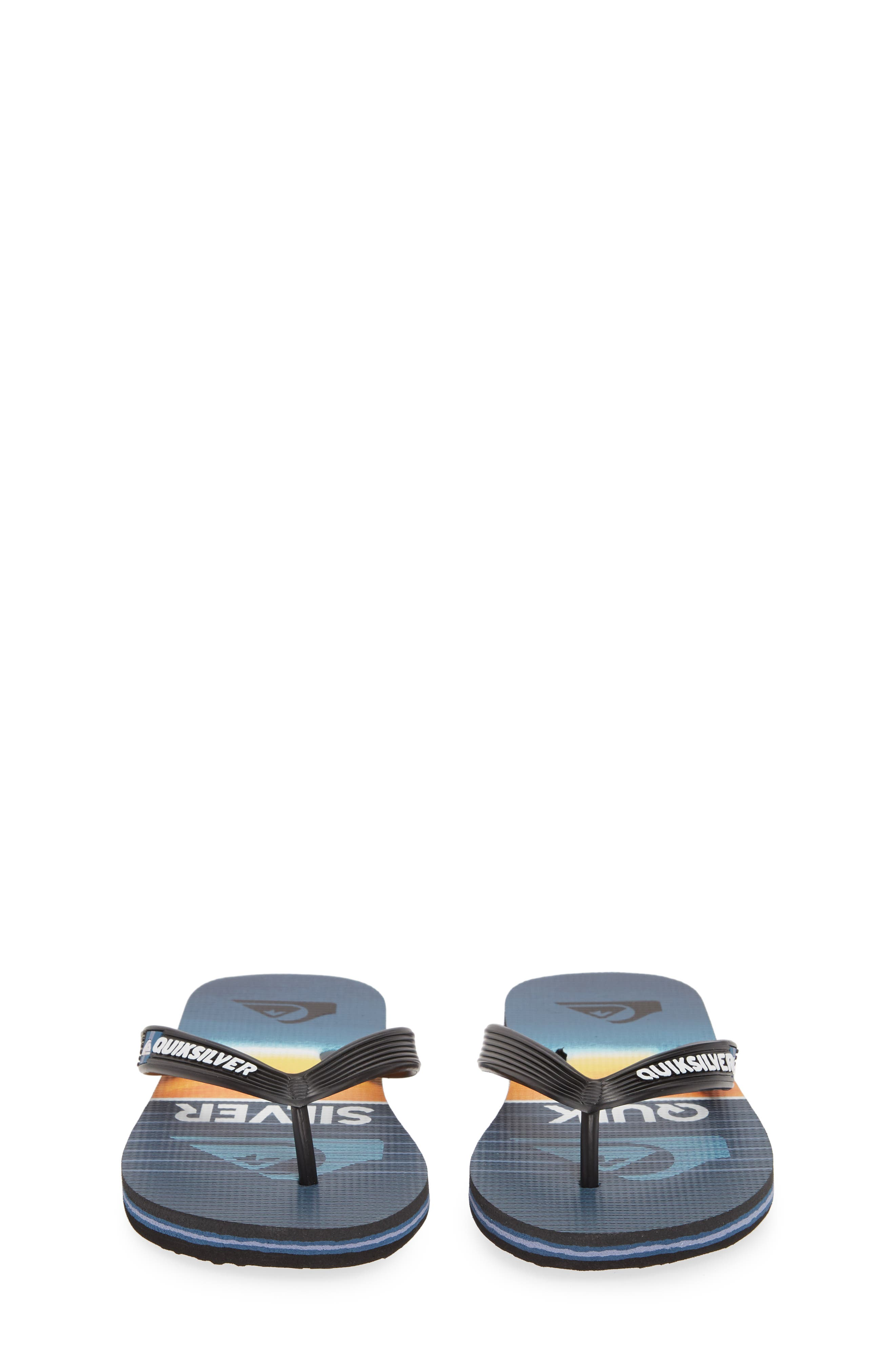 QUIKSILVER, Highline Slab Flip Flop, Alternate thumbnail 5, color, BLACK/ BLUE/ BLUE