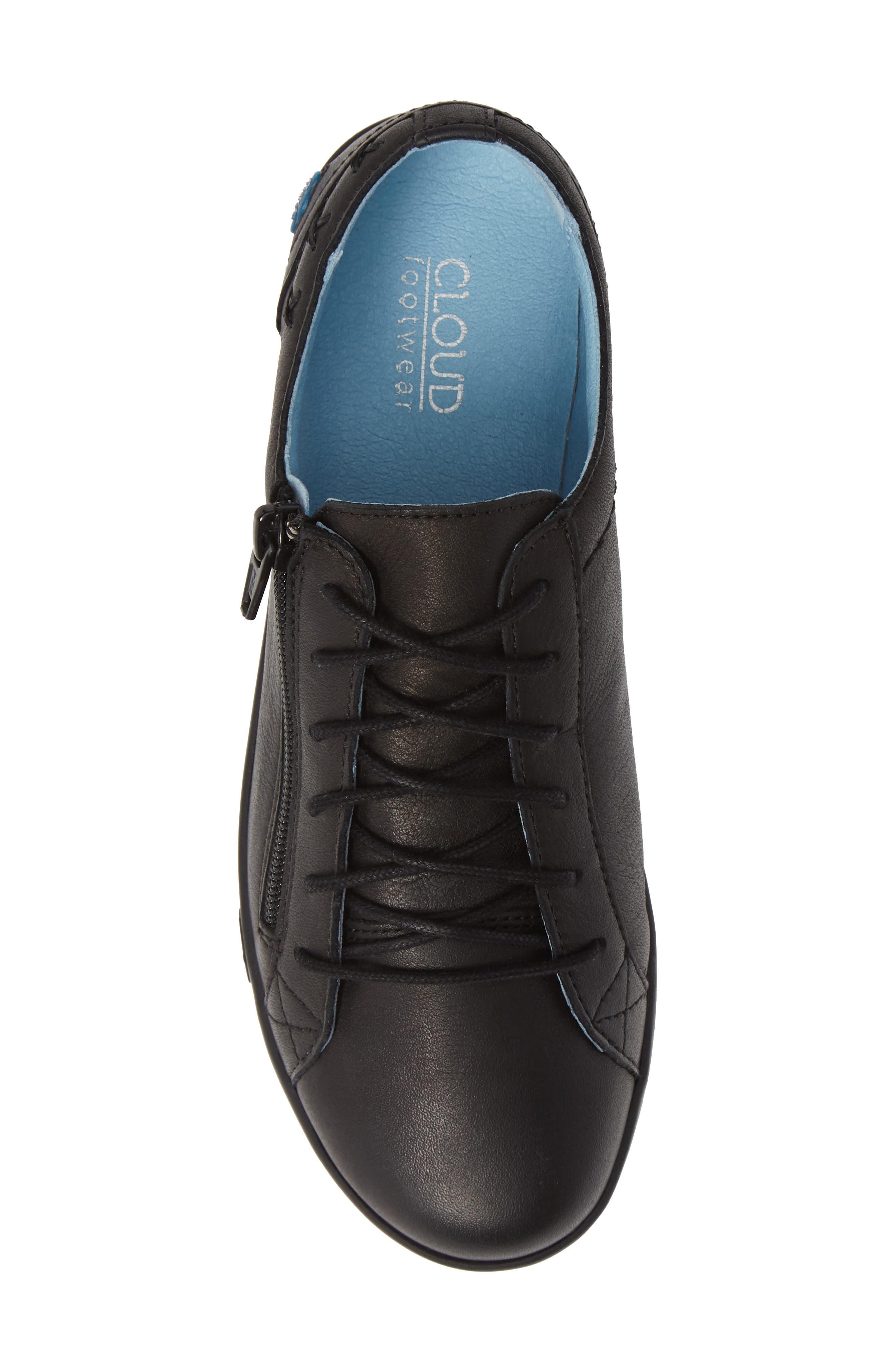 CLOUD, 'Aika' Leather Sneaker, Alternate thumbnail 5, color, 004