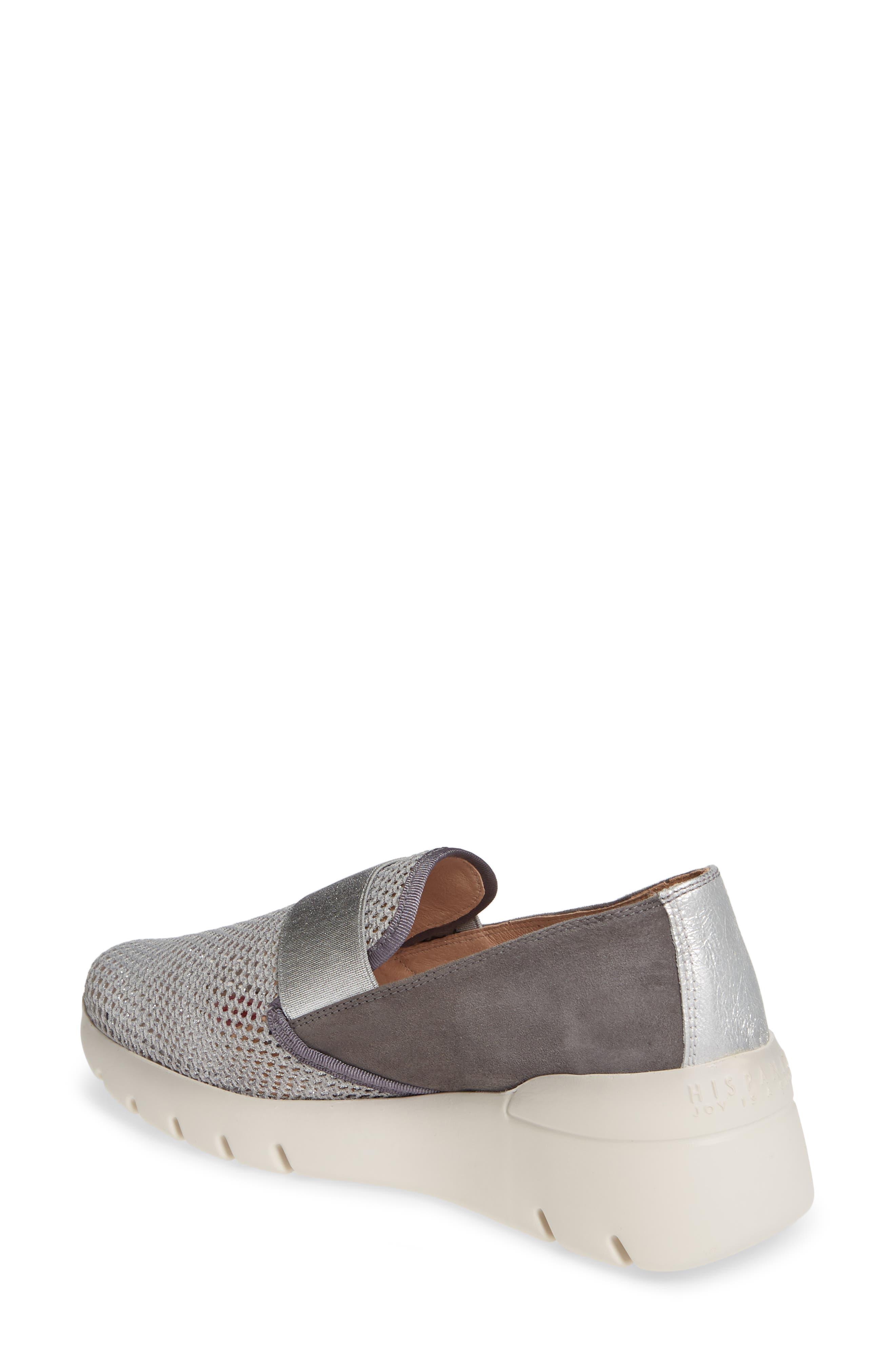 HISPANITAS, Reeva Slip-On Wedge Sneaker, Alternate thumbnail 2, color, GREY CARBON SUEDE