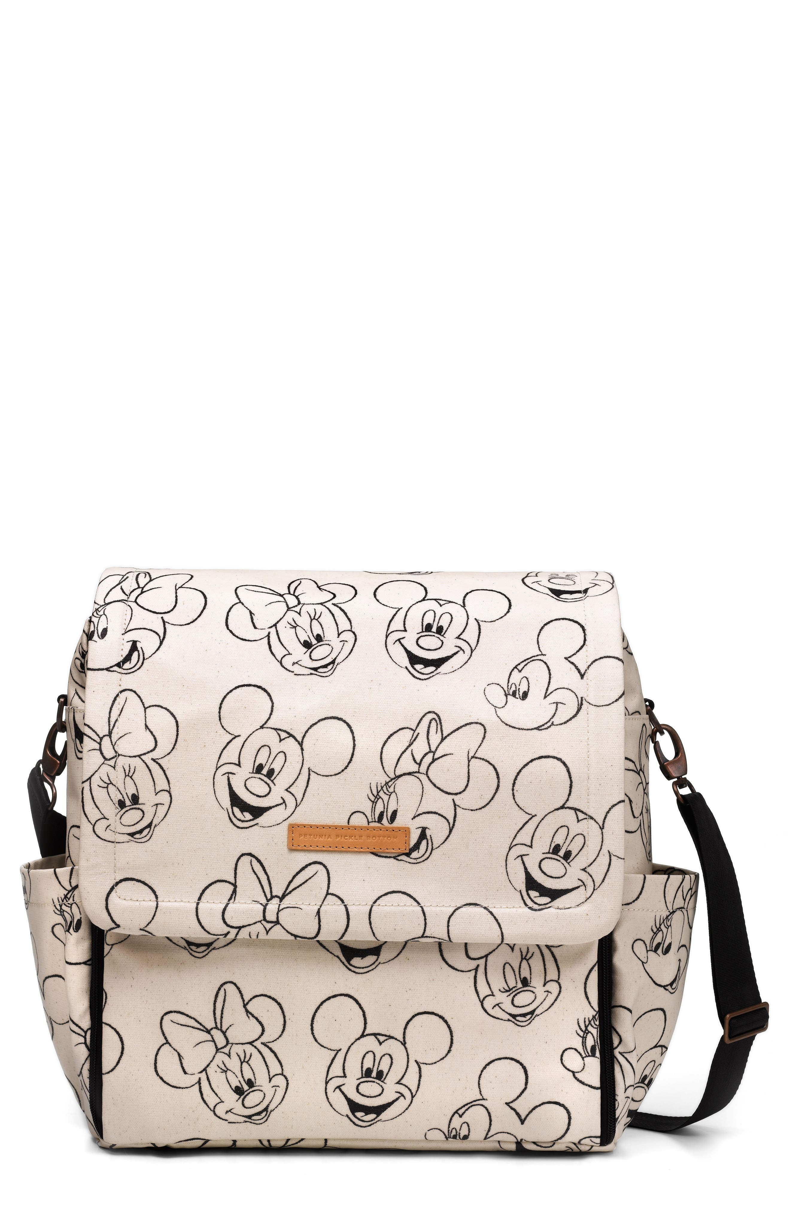 PETUNIA PICKLE BOTTOM Boxy Backpack - Disney Diaper Bag, Main, color, SKETCHBOOK MICKEY AND MINNIE