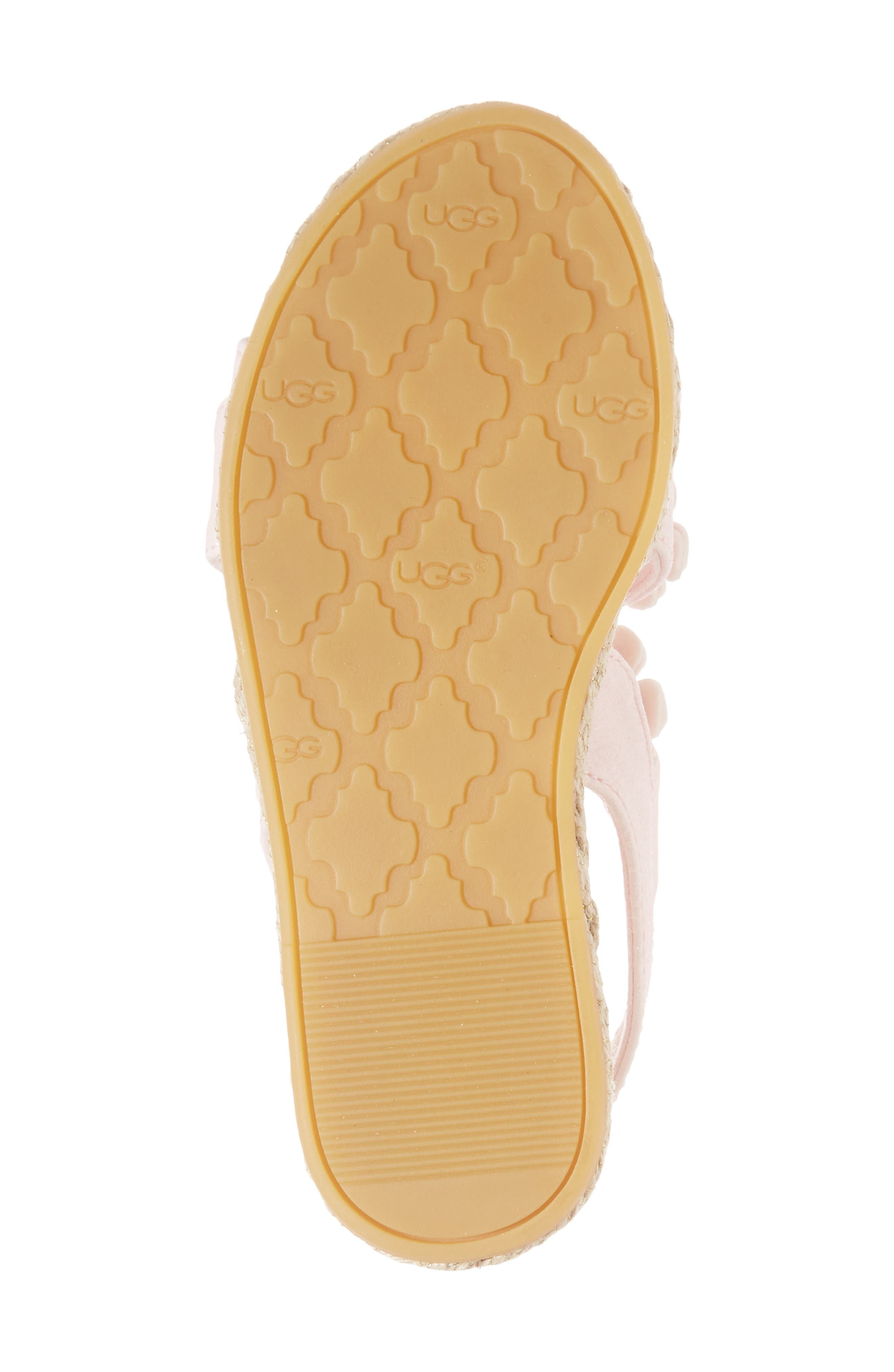 UGG<SUP>®</SUP>, Allairey Sparkles Espadrille Sandal, Alternate thumbnail 6, color, SEASHELL PINK