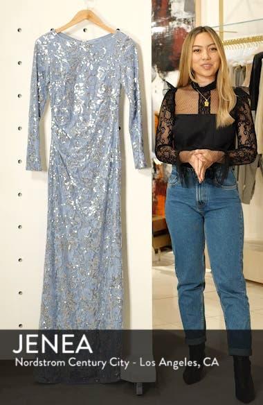 Lace & Sequin Evening Dress, sales video thumbnail