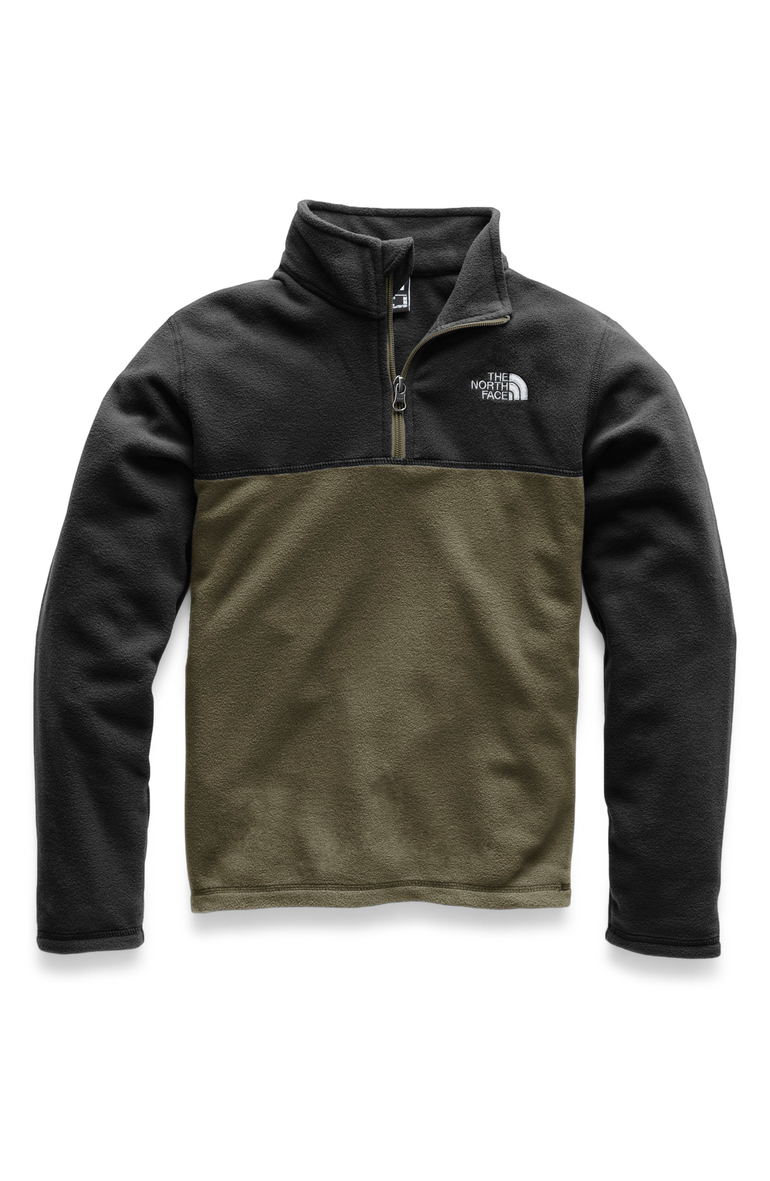 THE NORTH FACE, Glacier Quarter Zip Pullover, Main thumbnail 1, color, NEW TAUPE GREEN