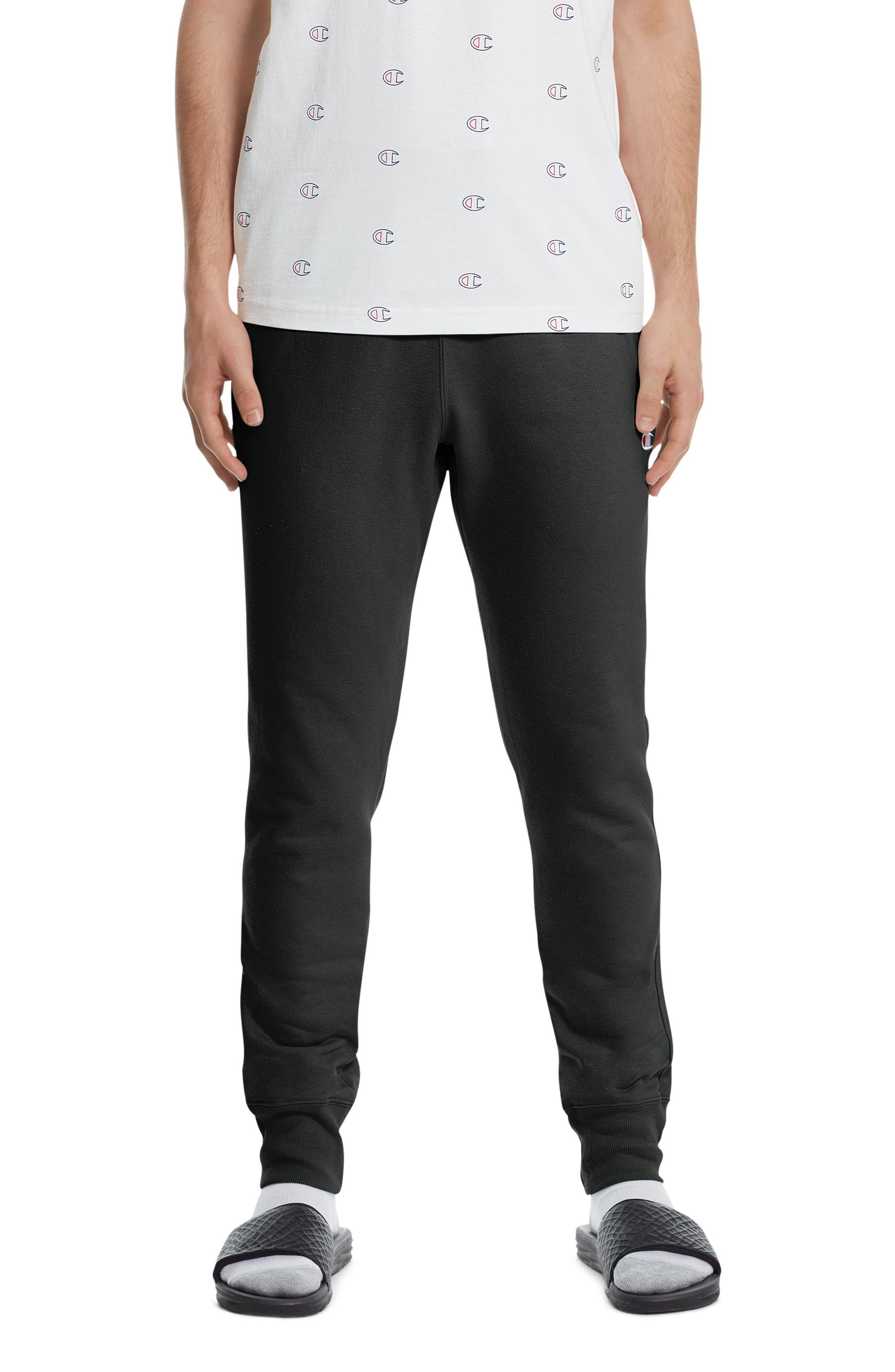 CHAMPION Reverse Weave<sup>®</sup> Jogger Pants, Main, color, BLACK