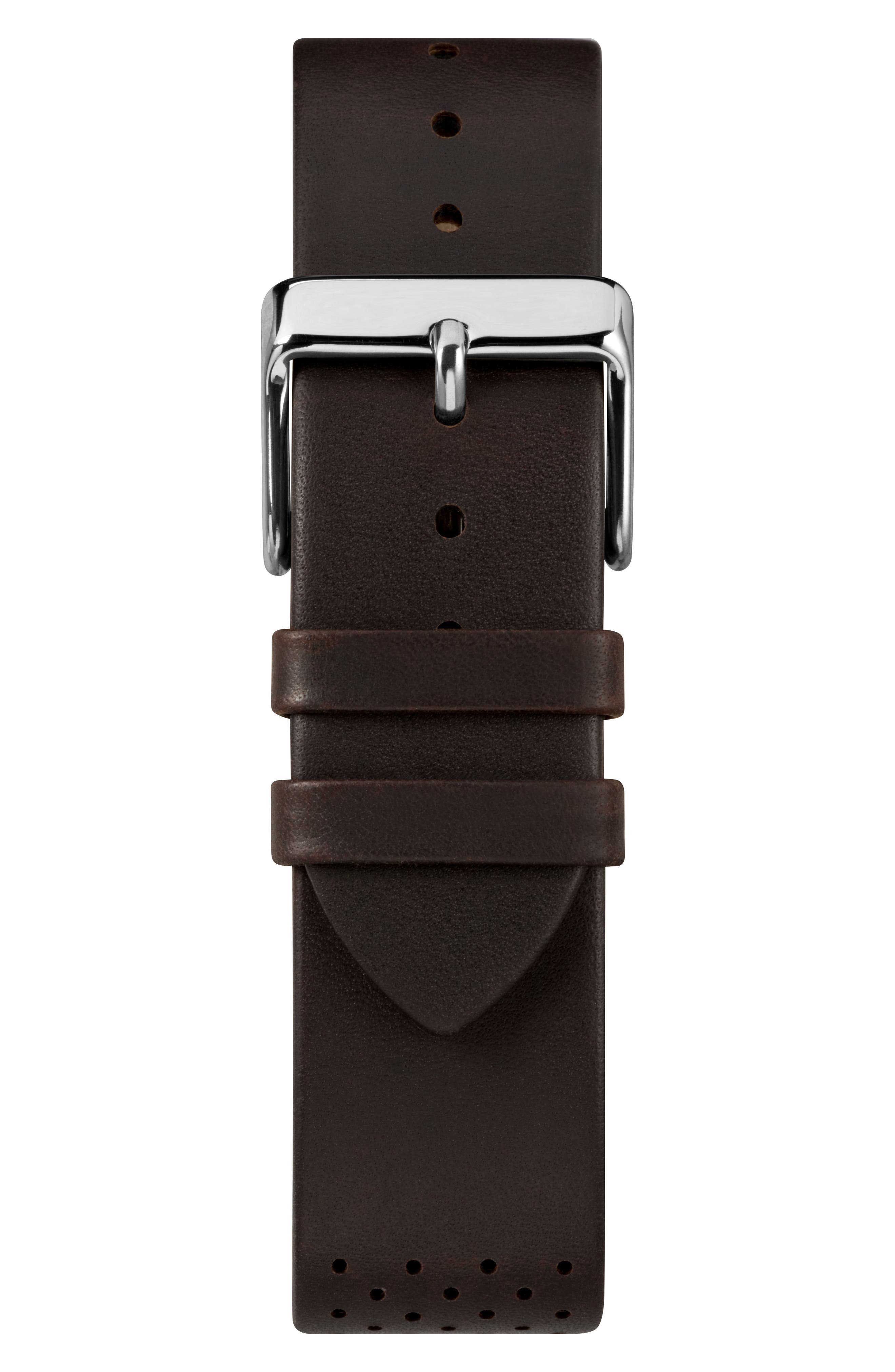 TIMEX<SUP>®</SUP>, Fairfield Chronograph Leather Strap Watch, 41mm, Alternate thumbnail 2, color, BROWN/ BRONZE