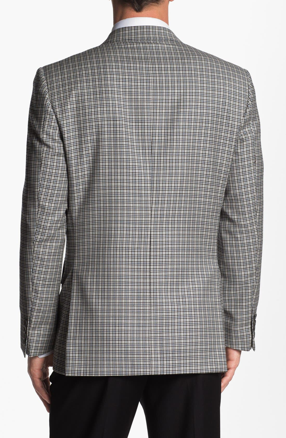 JOSEPH ABBOUD, 'Signature Silver' Check Wool & Silk Sportcoat, Alternate thumbnail 3, color, 400