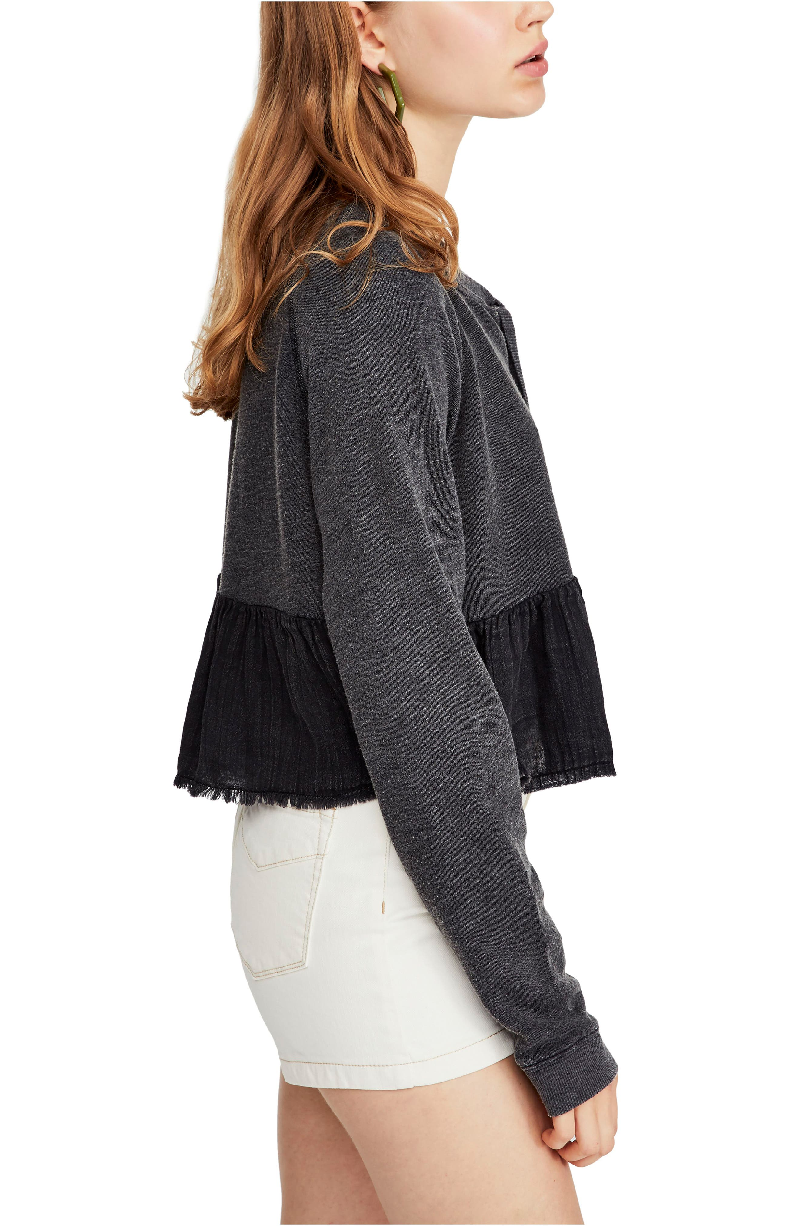 FREE PEOPLE, Sweet Jane Pullover, Alternate thumbnail 3, color, 001