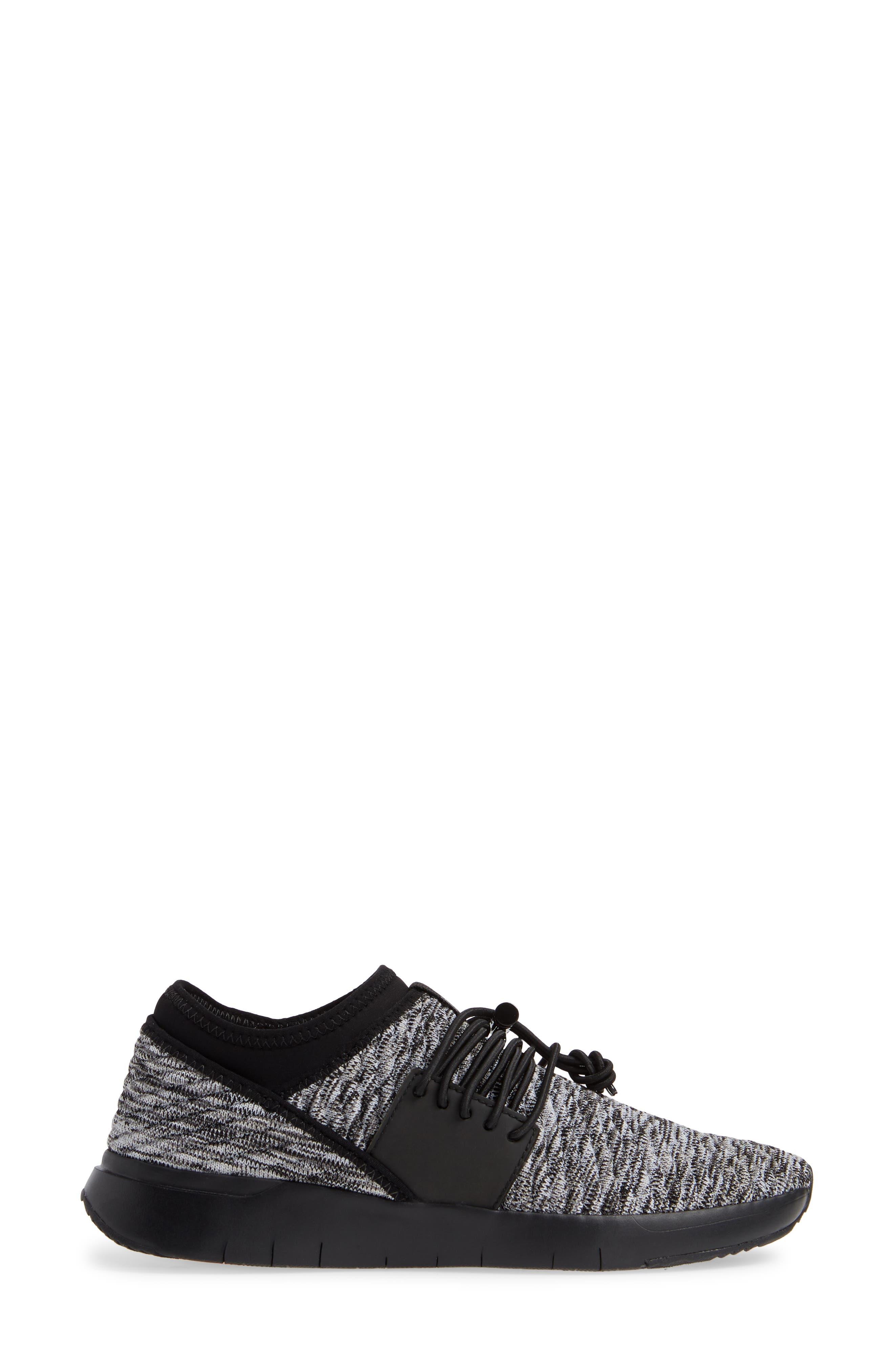 FITFLOP, Artknit Sock Sneaker, Alternate thumbnail 3, color, 017