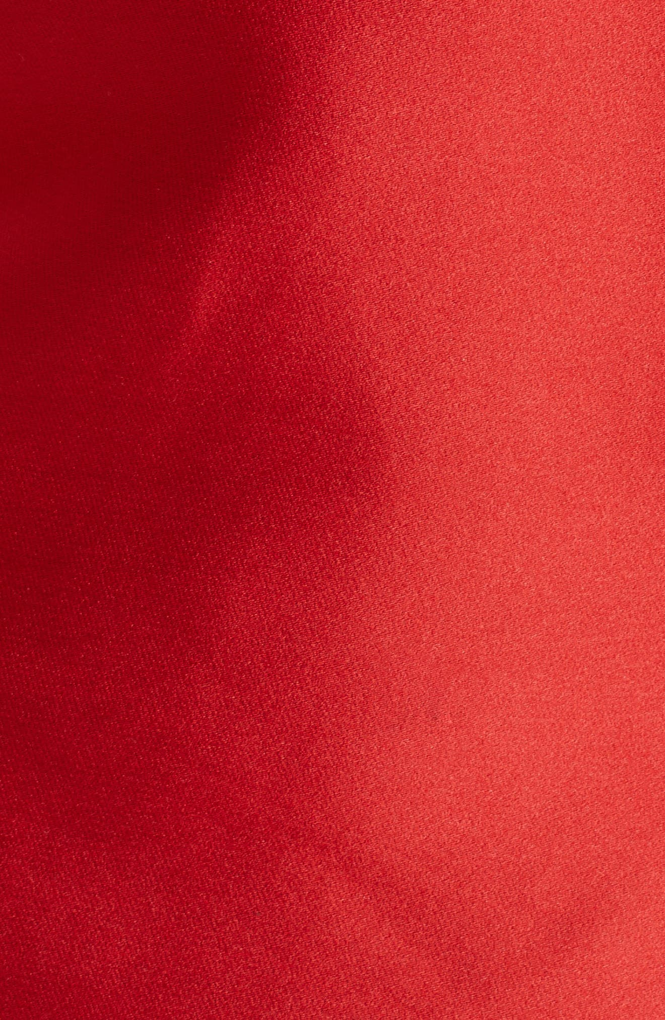 BRANDON MAXWELL, Fold Over One-Shoulder Top, Alternate thumbnail 5, color, POPPY
