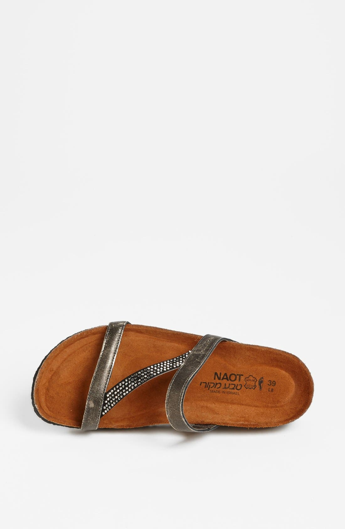 NAOT, 'Hawaii' Sandal, Alternate thumbnail 2, color, SILVER LEATHER
